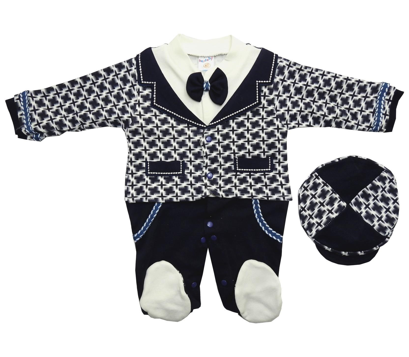 DECORATIVE BLAZER DESIGNED ROMPER FOR BOY (3-9 MONTH)