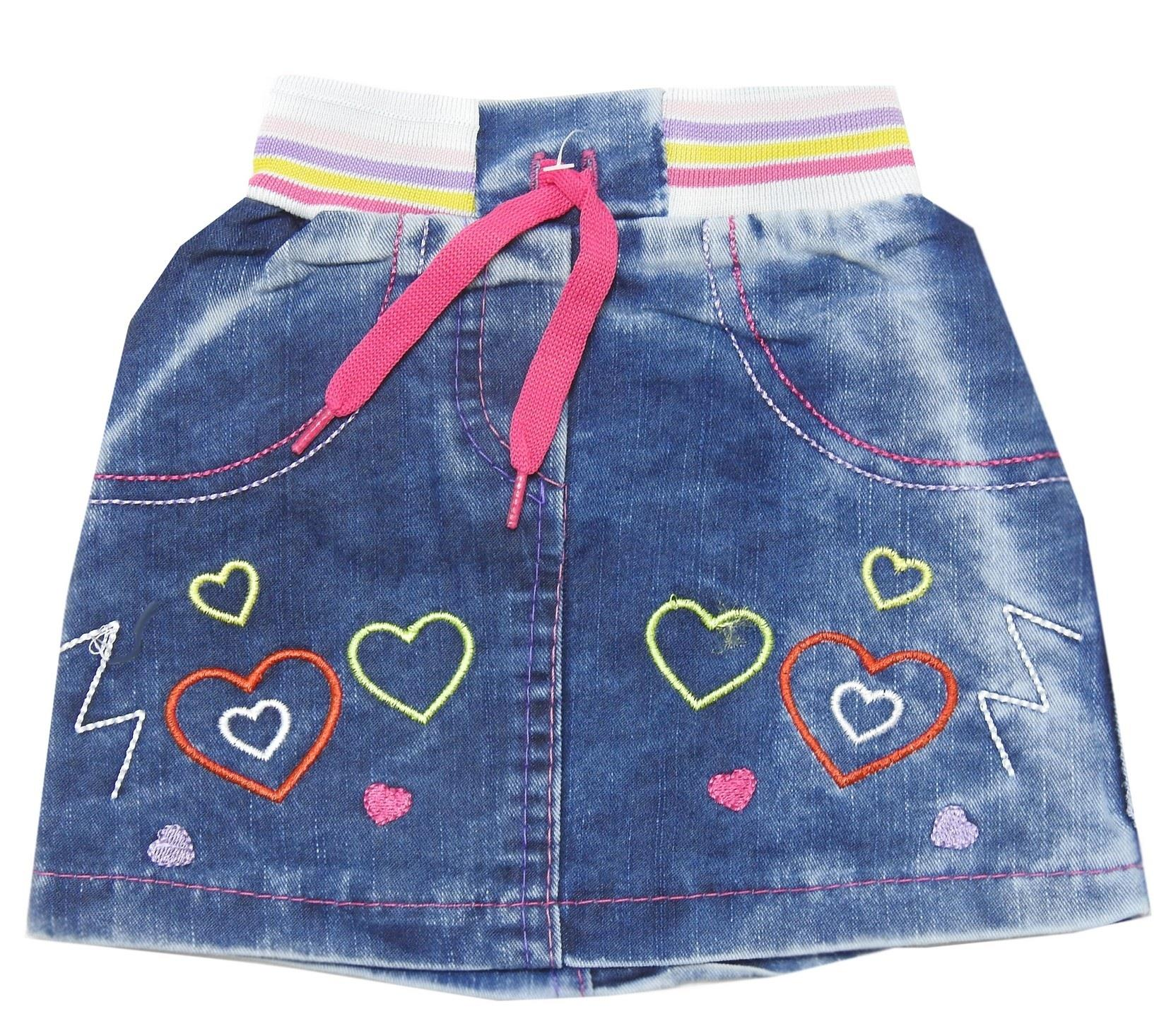 FLOWERY & HEARTED EMBROIDERY ASSORTED SKIRTS  FOR GIRL (1-2-3-4 AGE)