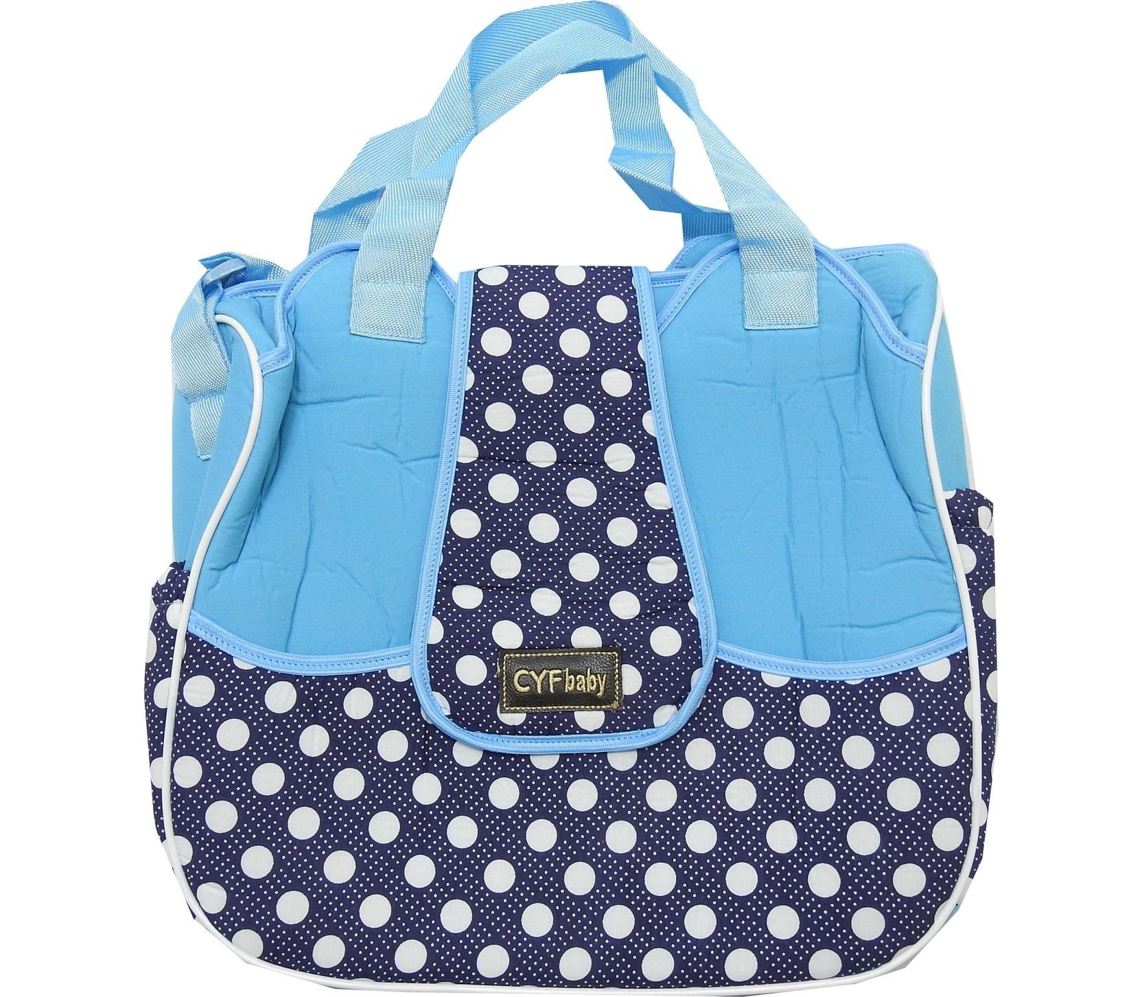 FRONT LAPEL DESIGNED SPOTTY EMBROIDERY CARE BAG