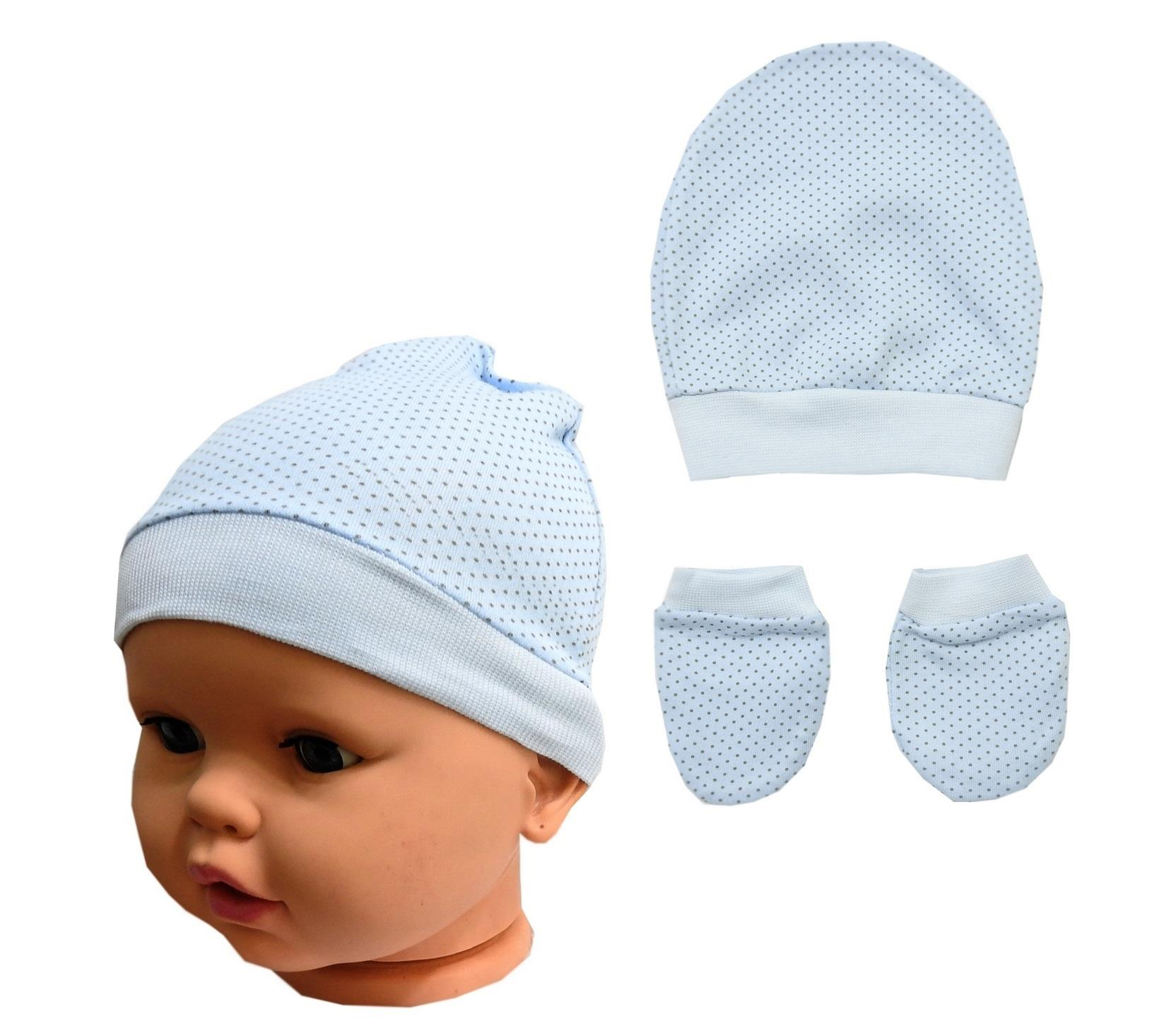 WHOLESALE BEANIE, GLOVES DOUBLE SET FOR BABY 12 PIECES IN PACKAGE