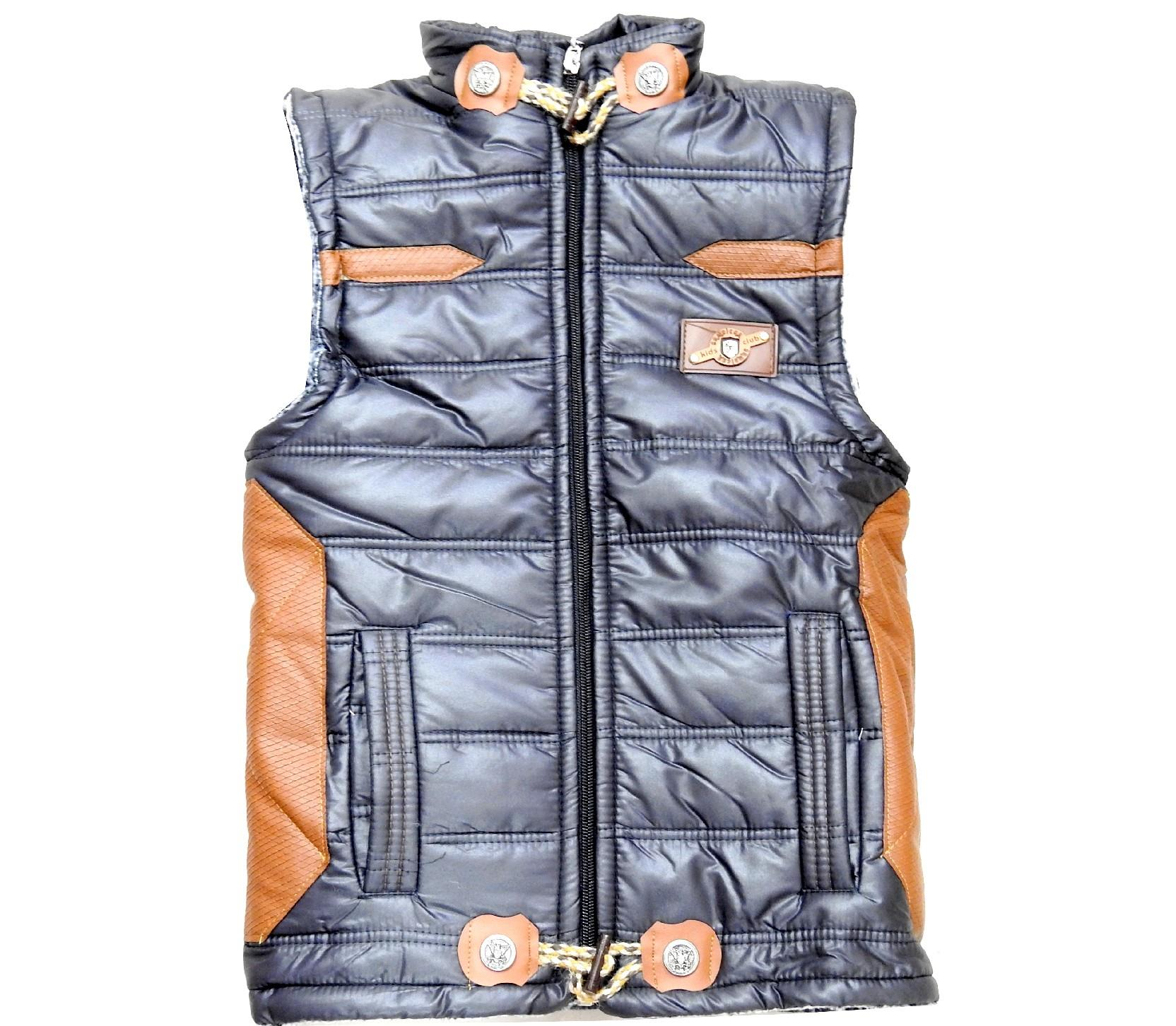 Wholesale quilted design water-repellent vest coat for boy  (5-7-9 age)