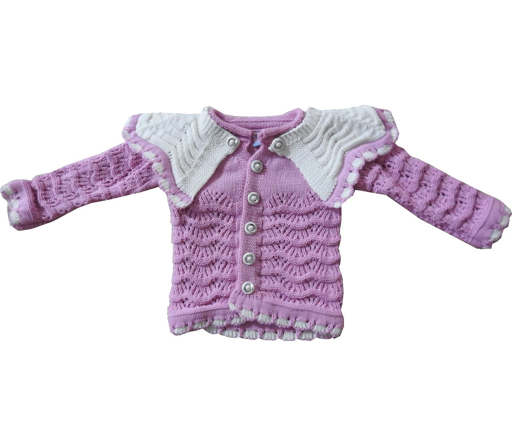 Wholesale knitwear sweat wit woof for girl (-1-2-3-4 age)