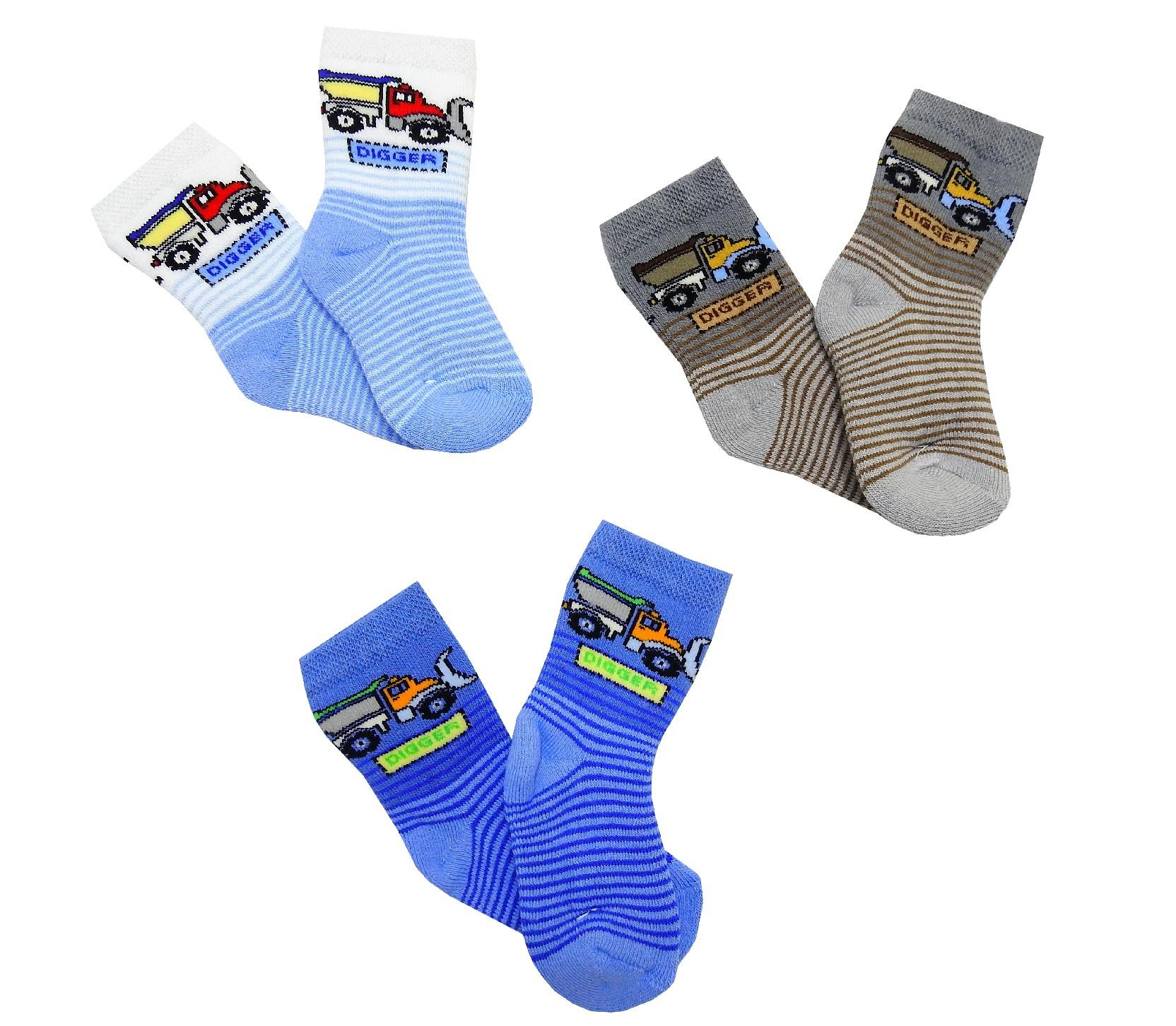 Wholesale digger print socks for baby 12 pieces in package