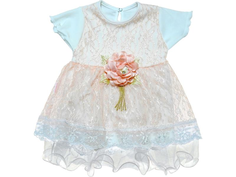 706 Wholesale flower applique tulle dress for girl baby clothes (6-12-18 month)