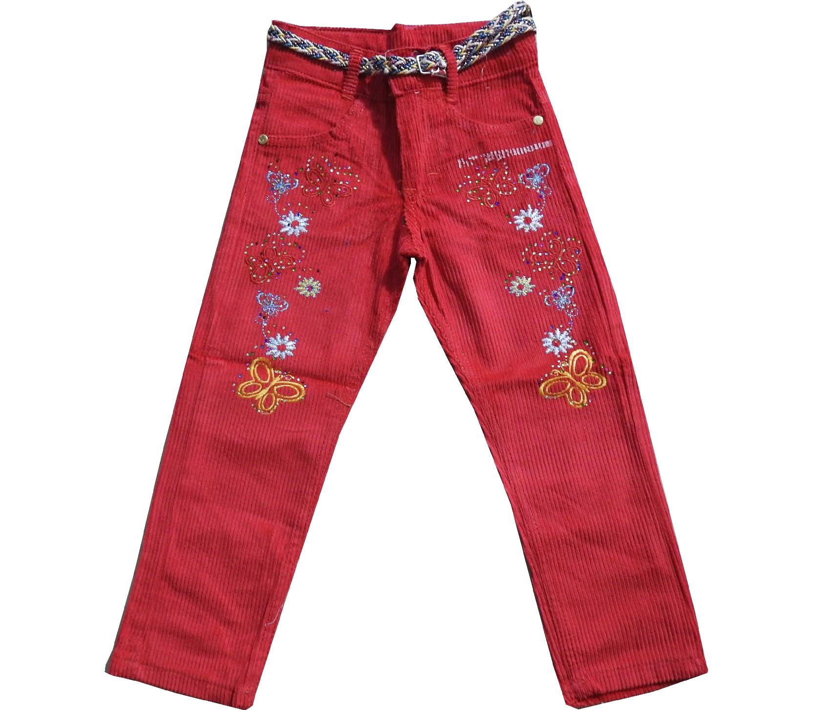 Wholesale flower embroidery velvet pant for girl (3-4-5-6-7 age)