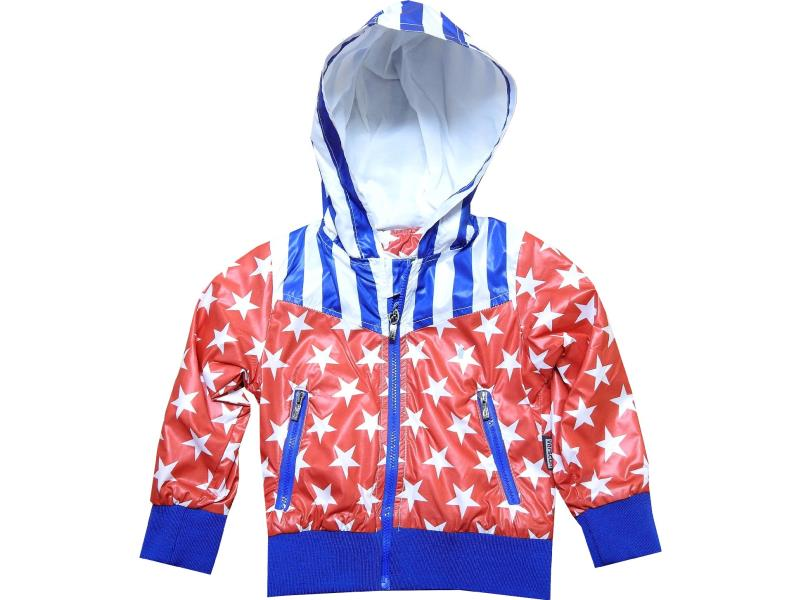 Wholesale waterproof hooded star embroidery coat for boy (2-3-4-5-6 age)