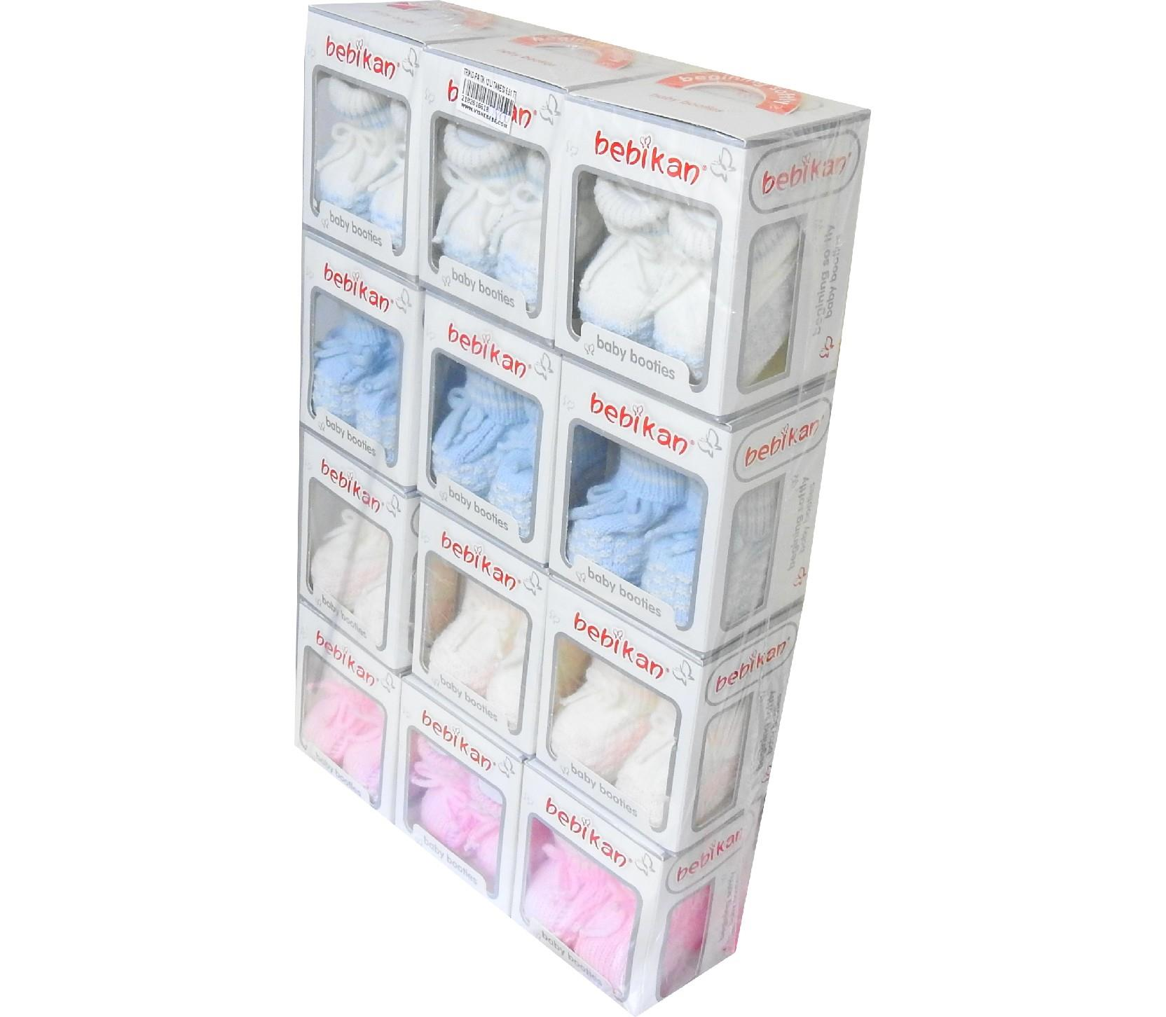 Wholesale knitted booties for baby 12 pieces in package