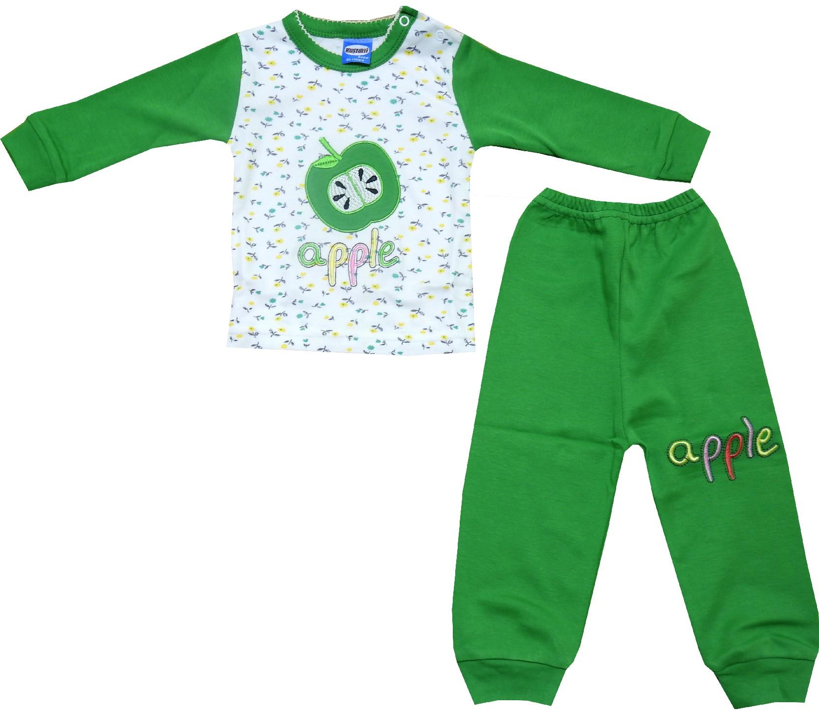 3355 wholesale apple print pyjamas for baby (1-2-3 age)