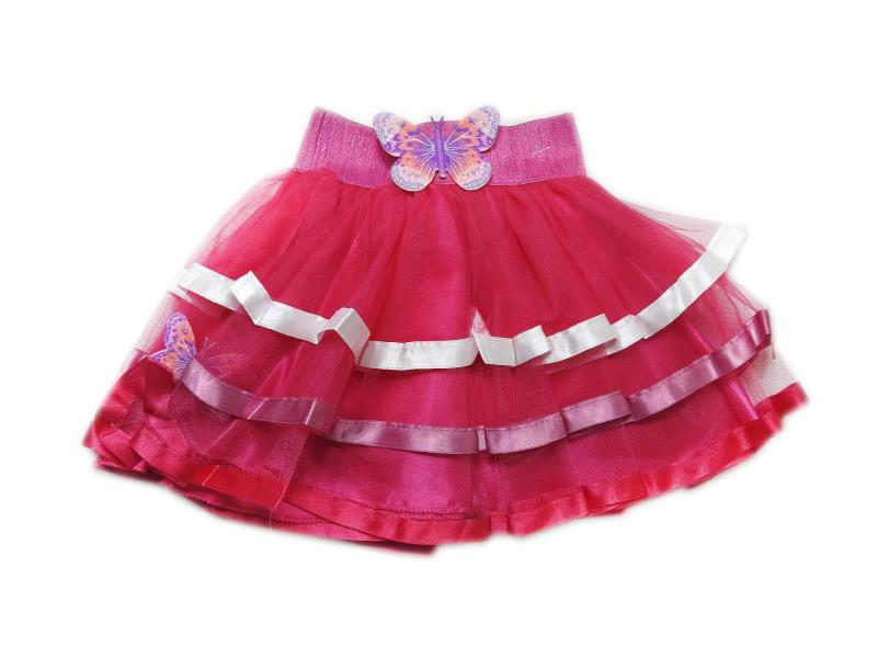 2631 Wholesale butterfly applique tulle designed skirt for girl children clothes (7-8-9-10 age)