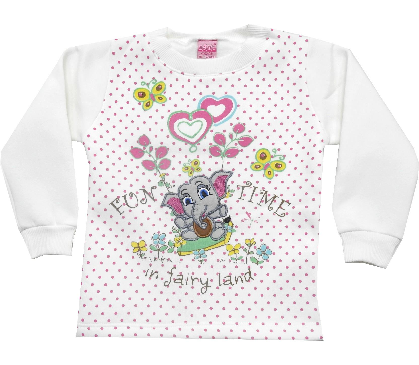 Wholesale printed design assorted sweatshirt for girl (1-2-3-4 age)