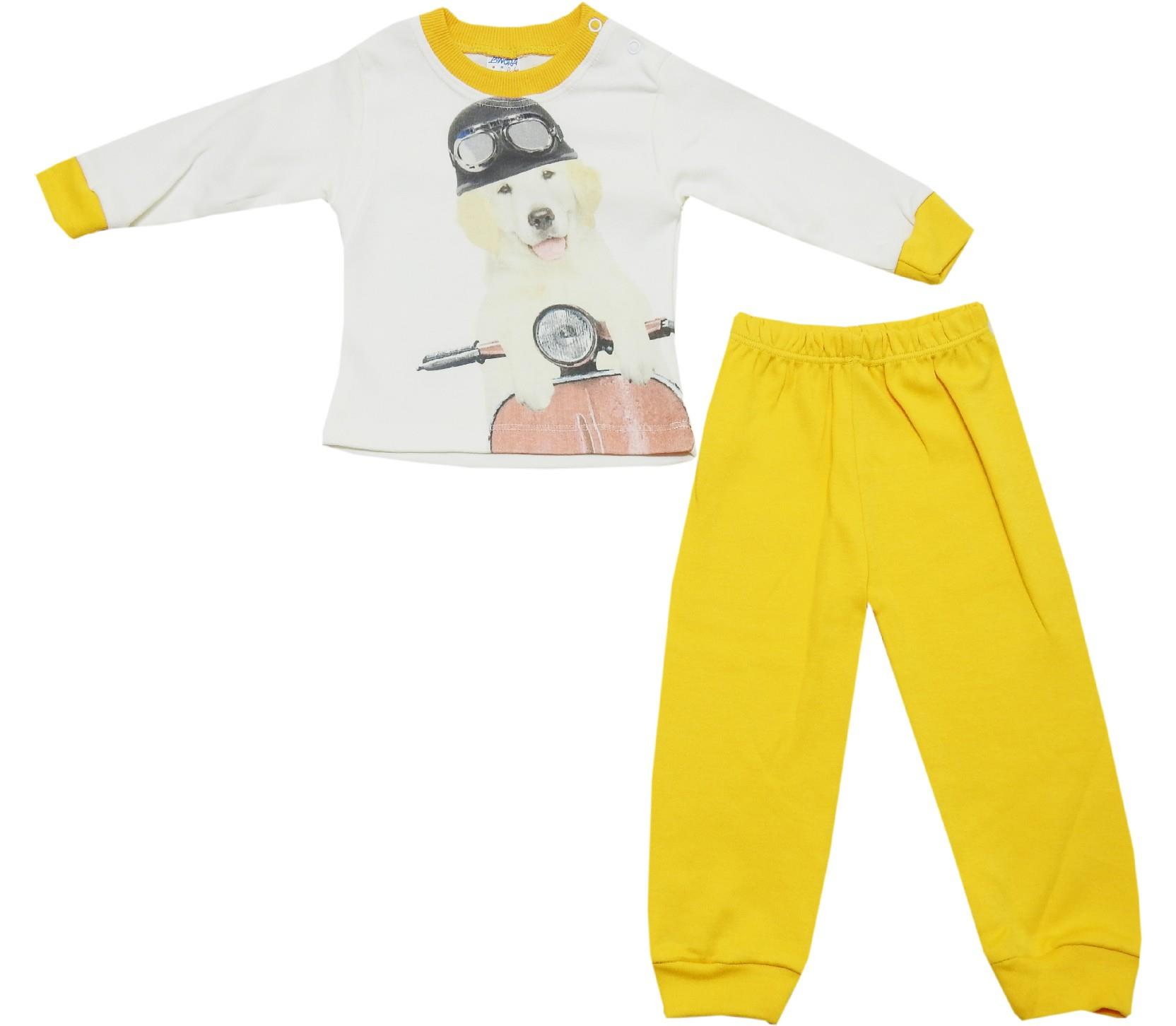 167 wholesale dog print tracksuit for baby (9-12-18 month)