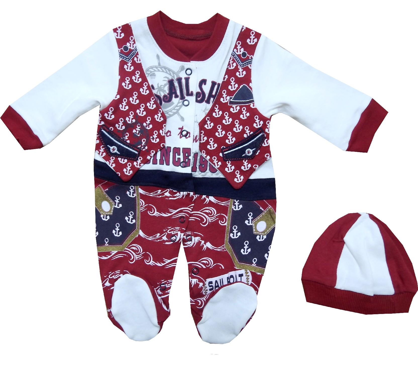 Wholesale ''SAILSHIP'' pint romper for baby boy (3-6-9 month)