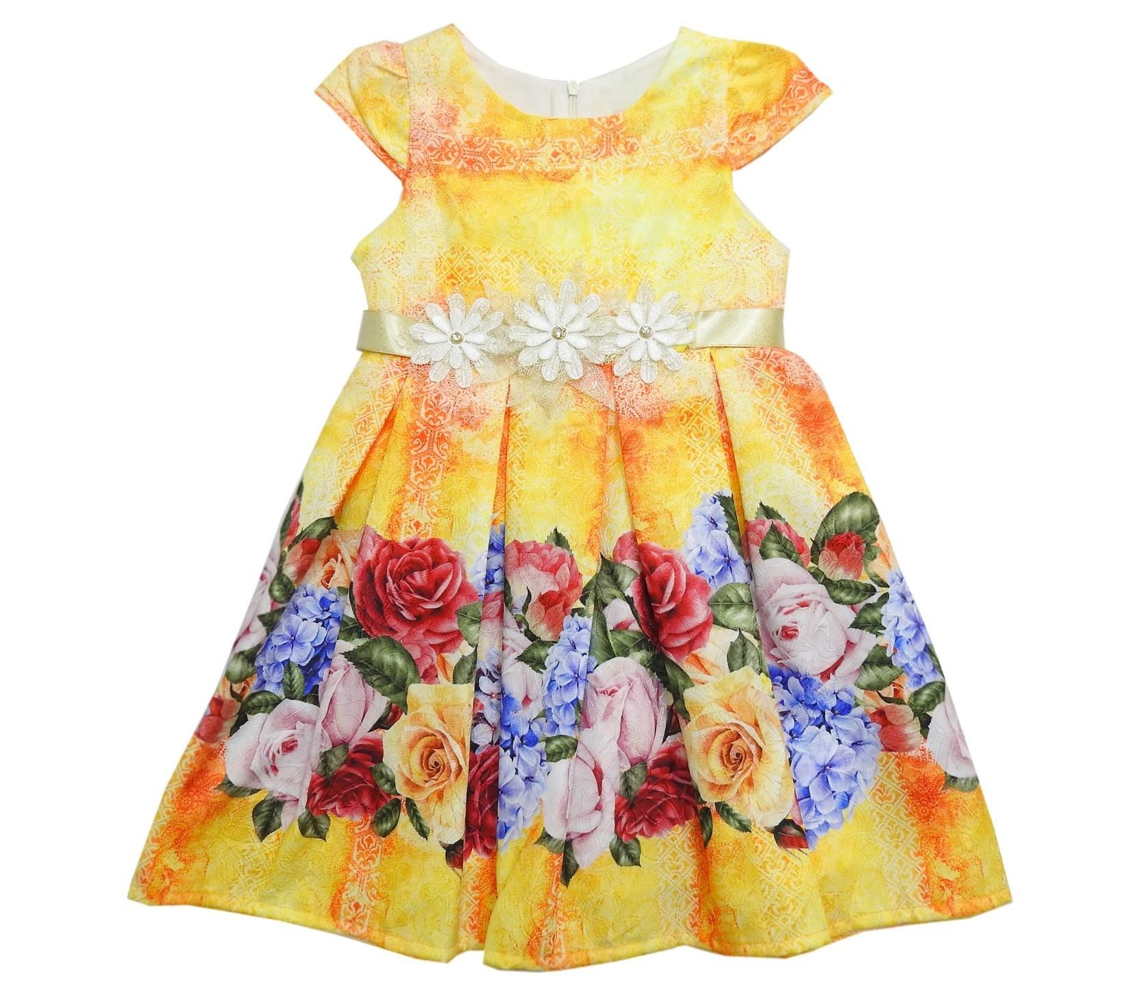 556 FLORAL DRESS FOR GIRL ( 5-6-7-8-9-10 AGE )