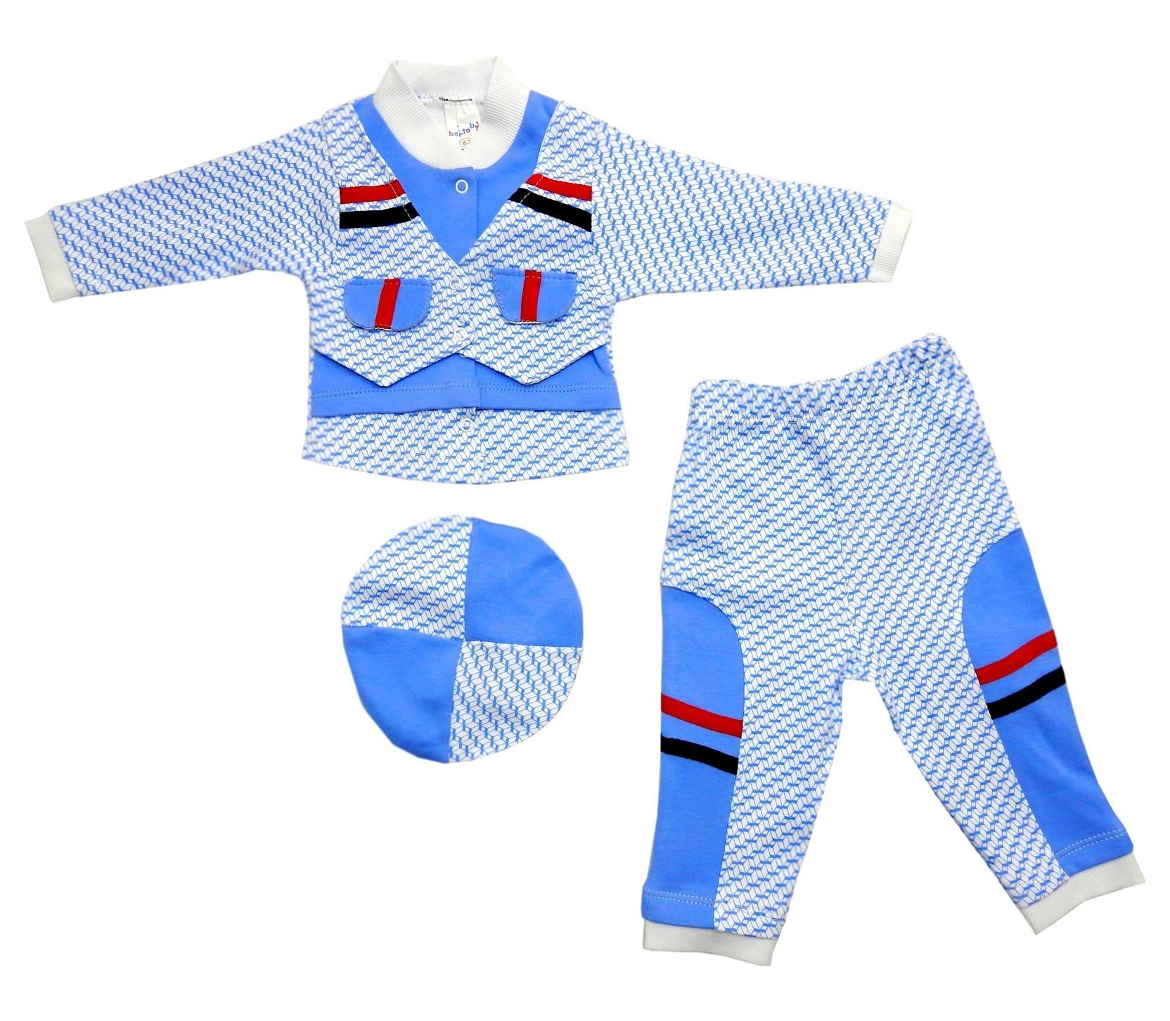 DECORATIVE BLAZER TRIPLE SET FOR BOY (6-9 MONTH)