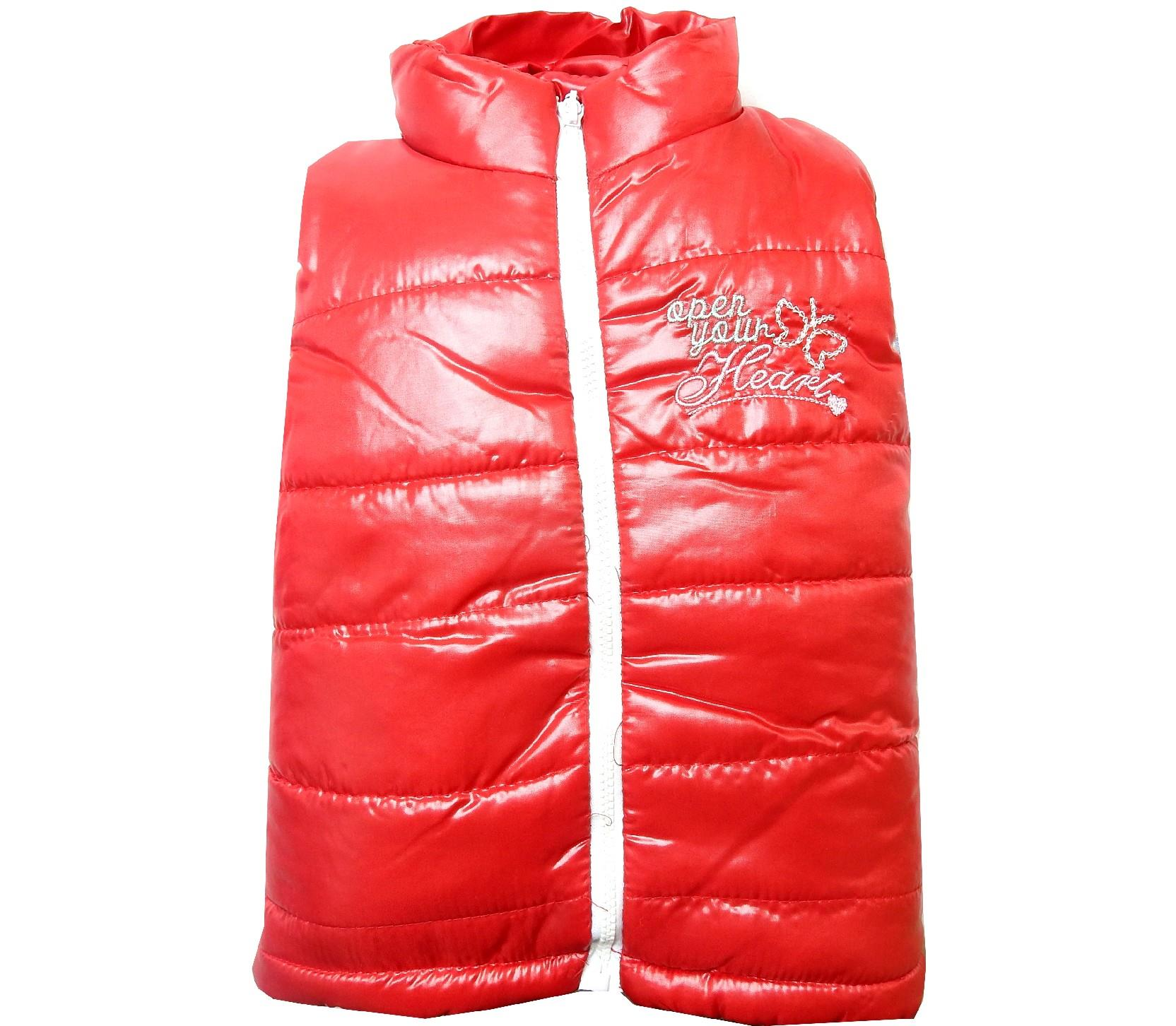 3251 wholesale quilted design waterproof vest coat for girl (1-2-3-4 age)