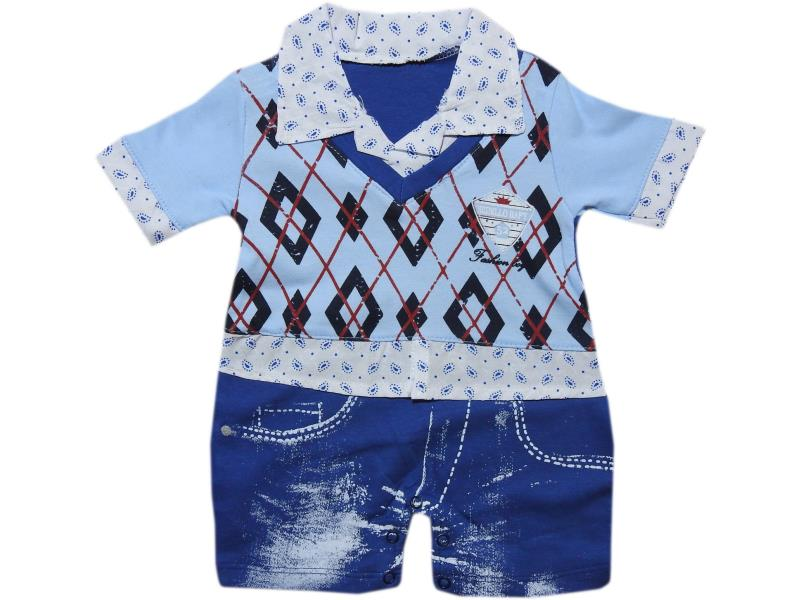 1054 Wholesale embroidery romper for boy baby clothes (3-6-9 month)