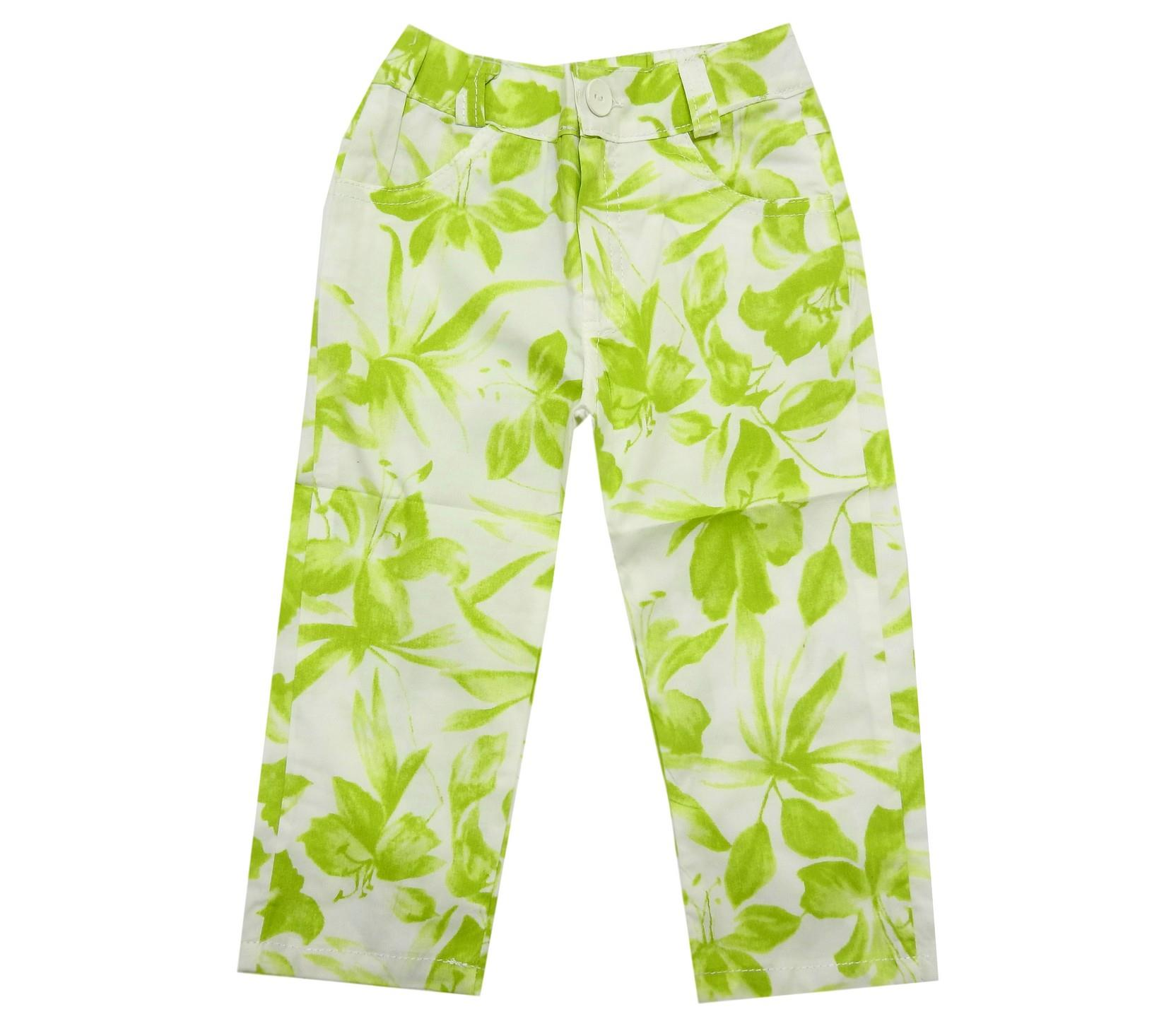 FLOWER EMBROIDERY CAPRI FO GIRL (3-4-5-6-7-8-9 AGE)