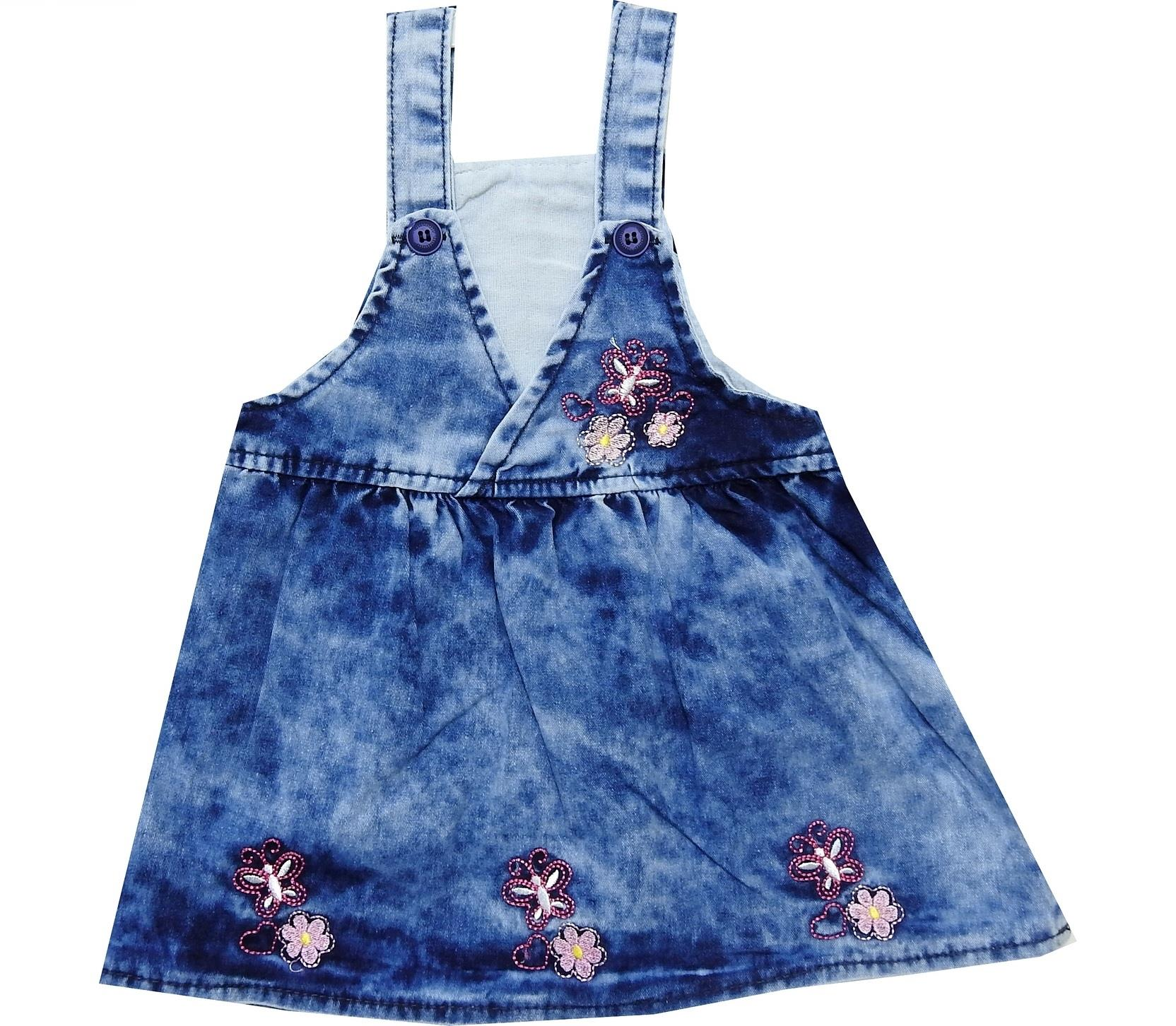 FLOWERY EMBROIDERY SUSPENDED WAIST DESIGN FOR GIRL (1-2-3 AGE)