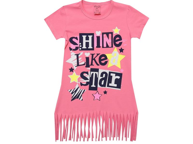 "1011 Туника "" Shine Like Star"" 5-6-7-8 лет"