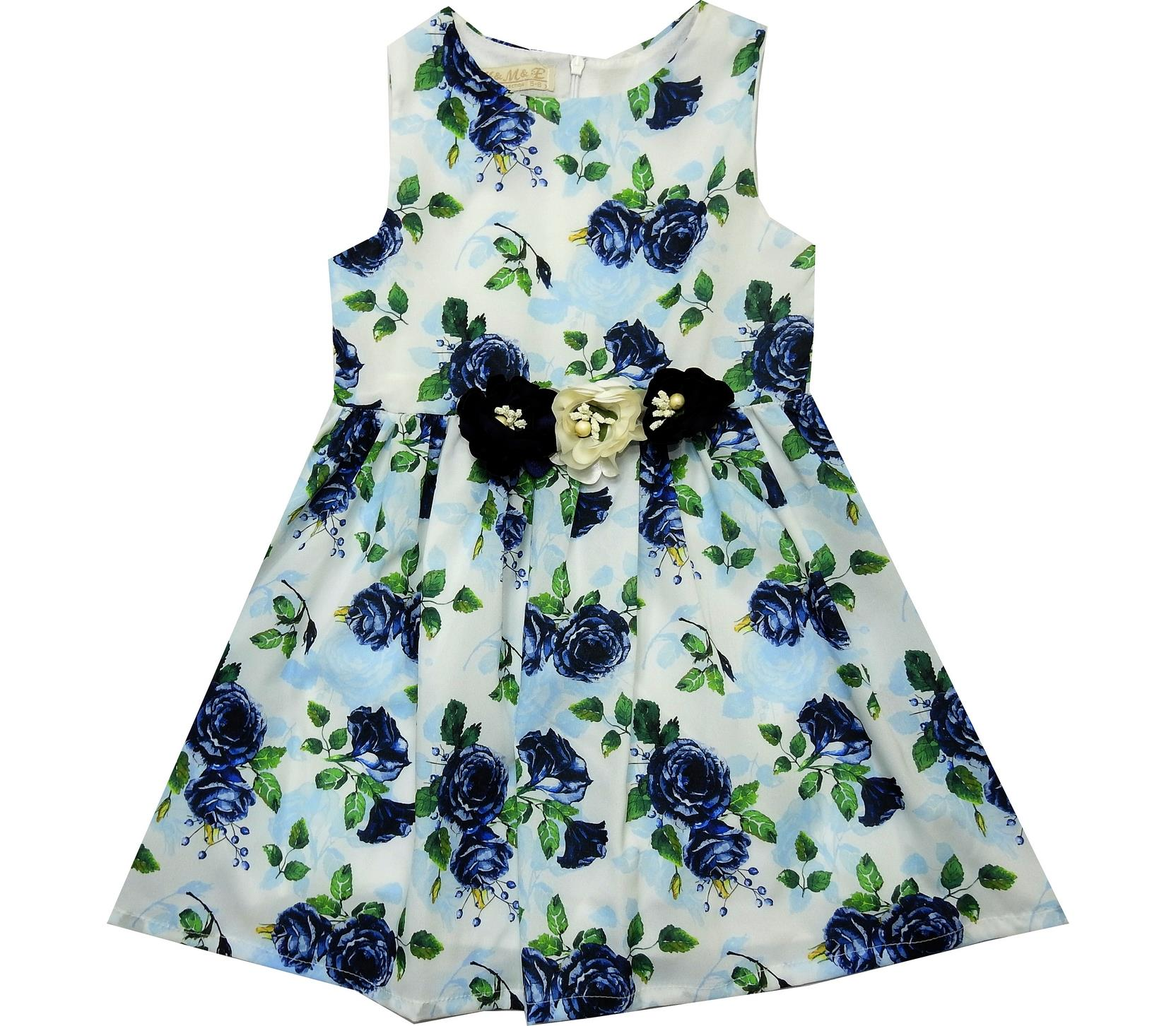 FLOWERY EMBROIDERELY DESIGNED DRESS