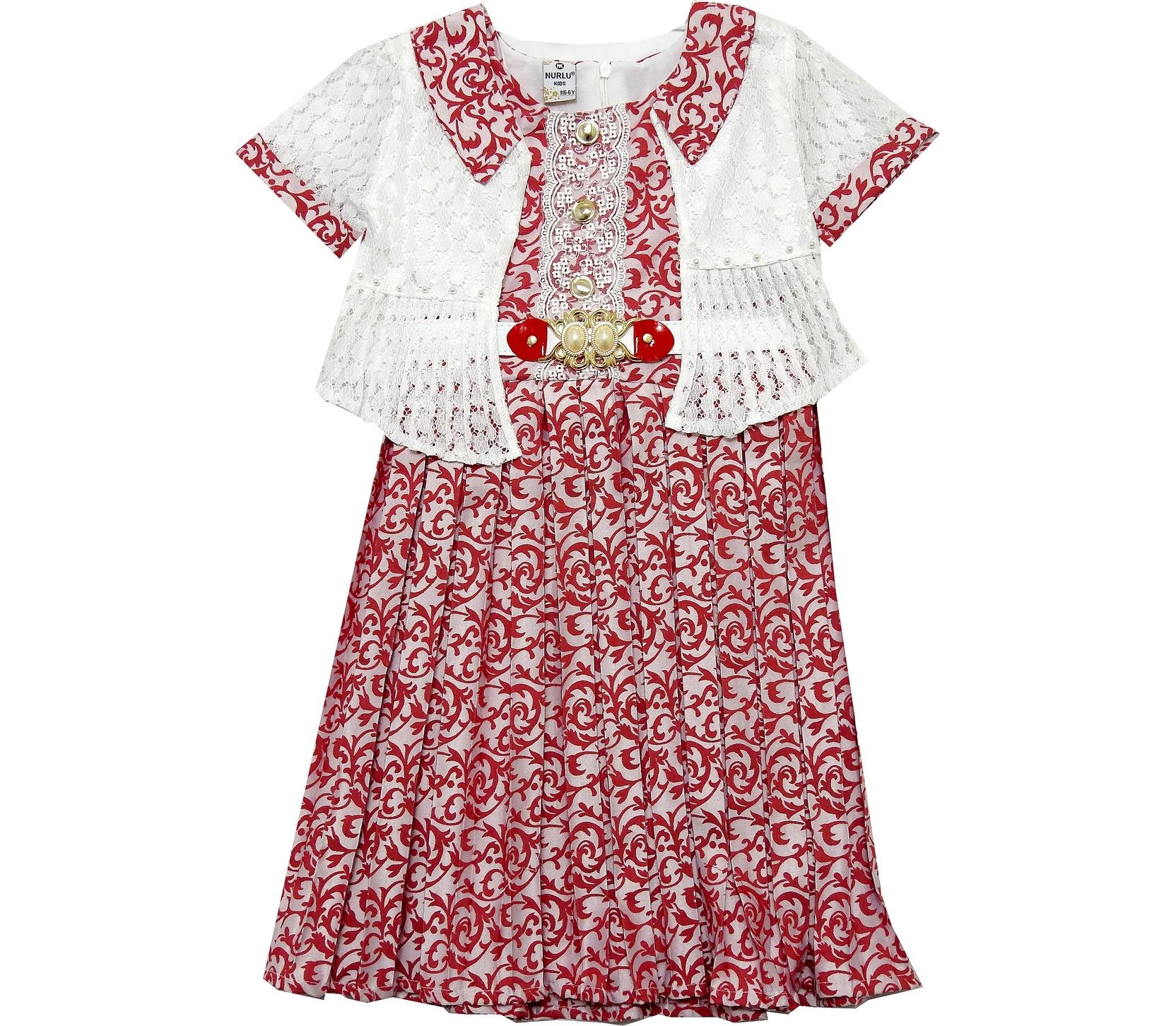 EMBROIDERY PRINTED DESIGN DRESS ( 6-8-10-12 AGE )