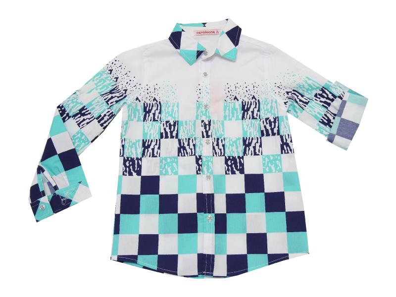 SQUARE EMBROIDERY DESIGN SHIRT FOR BOY (5-6-7-8 AGE)