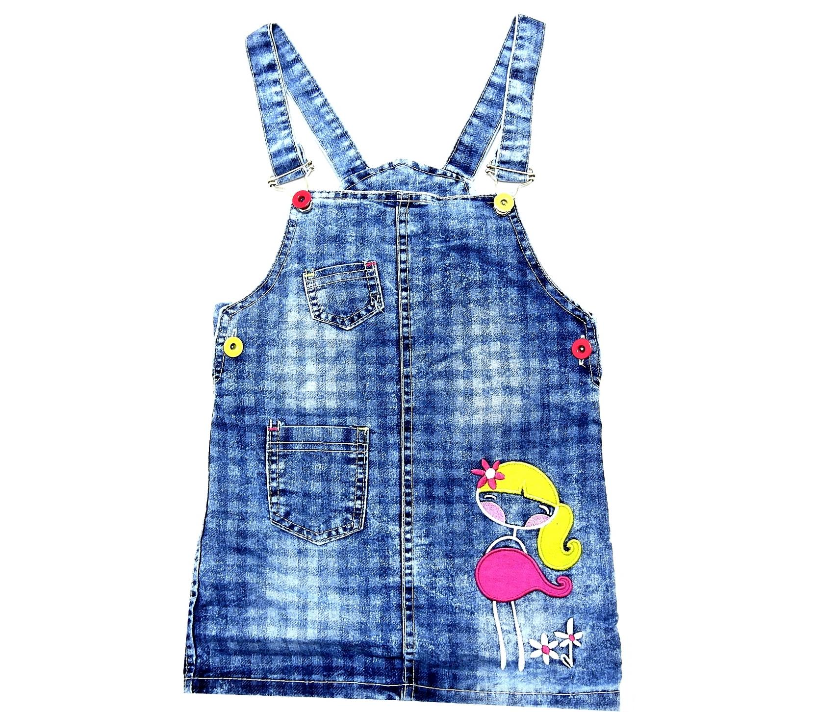 GIRL PRINTED JEANS WAISTCOAT (2-3-4-5 AGE)