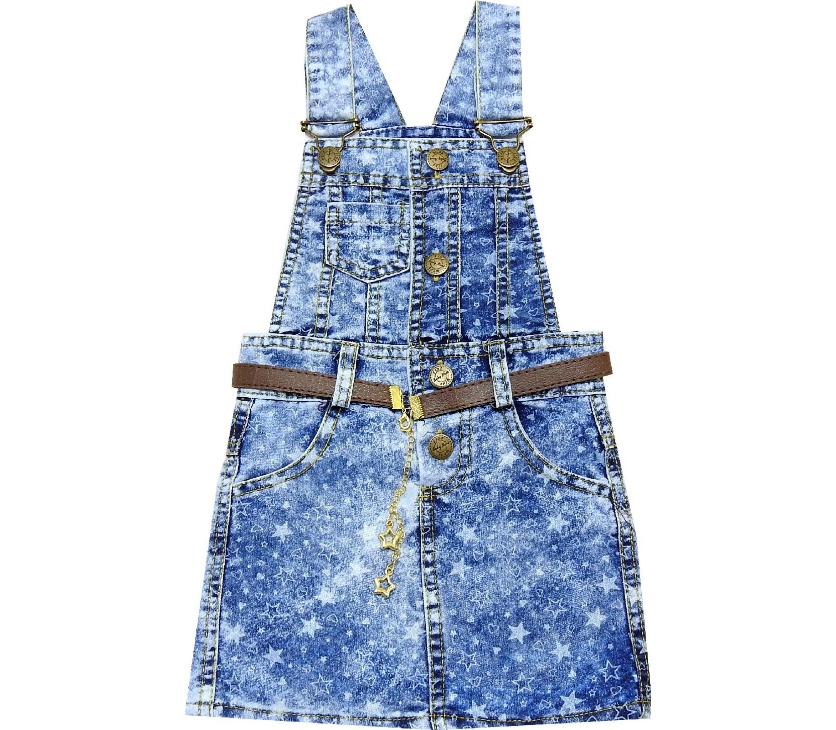 STAR EMBROIDERY DESIGNED SUSPENDED WAIST FOR GIRL (2-3-4-5 AGE)
