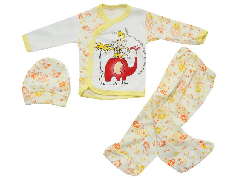 Wholesale elephant printed newborn set for babies (3-6 month)