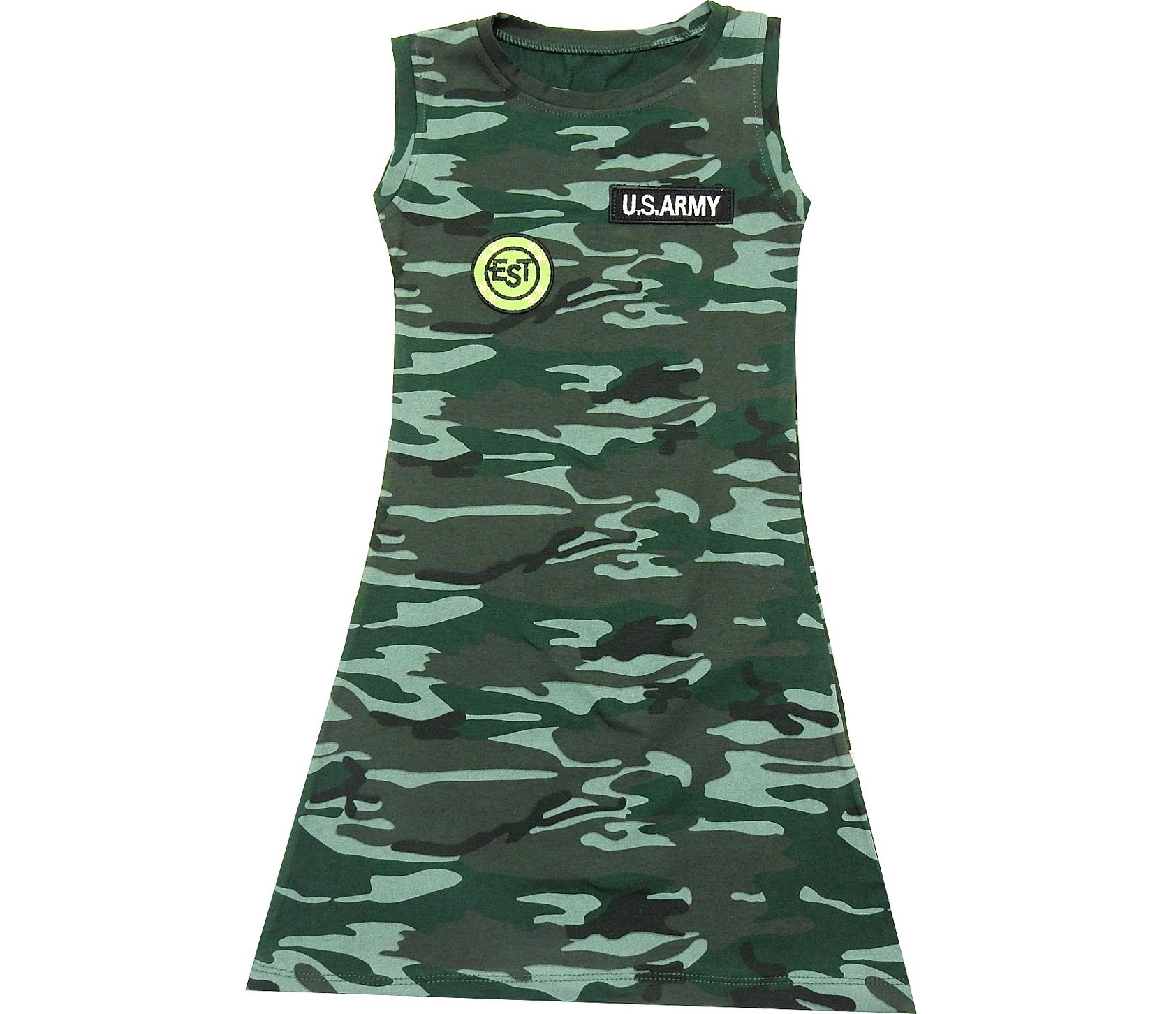 CAMUFLAJ EMBROIDERY WAISTDRESS FOR GIRL (9-10-11-12 AGE)