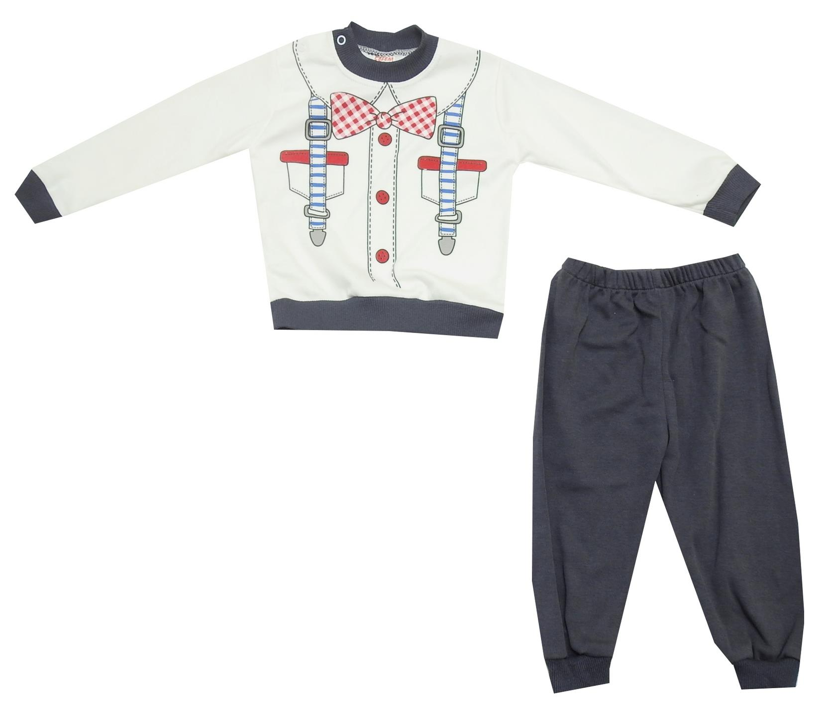 ASSORTED DOUBLE SET T-SHIRT AND TROUSER (6-9-12 MONTH)