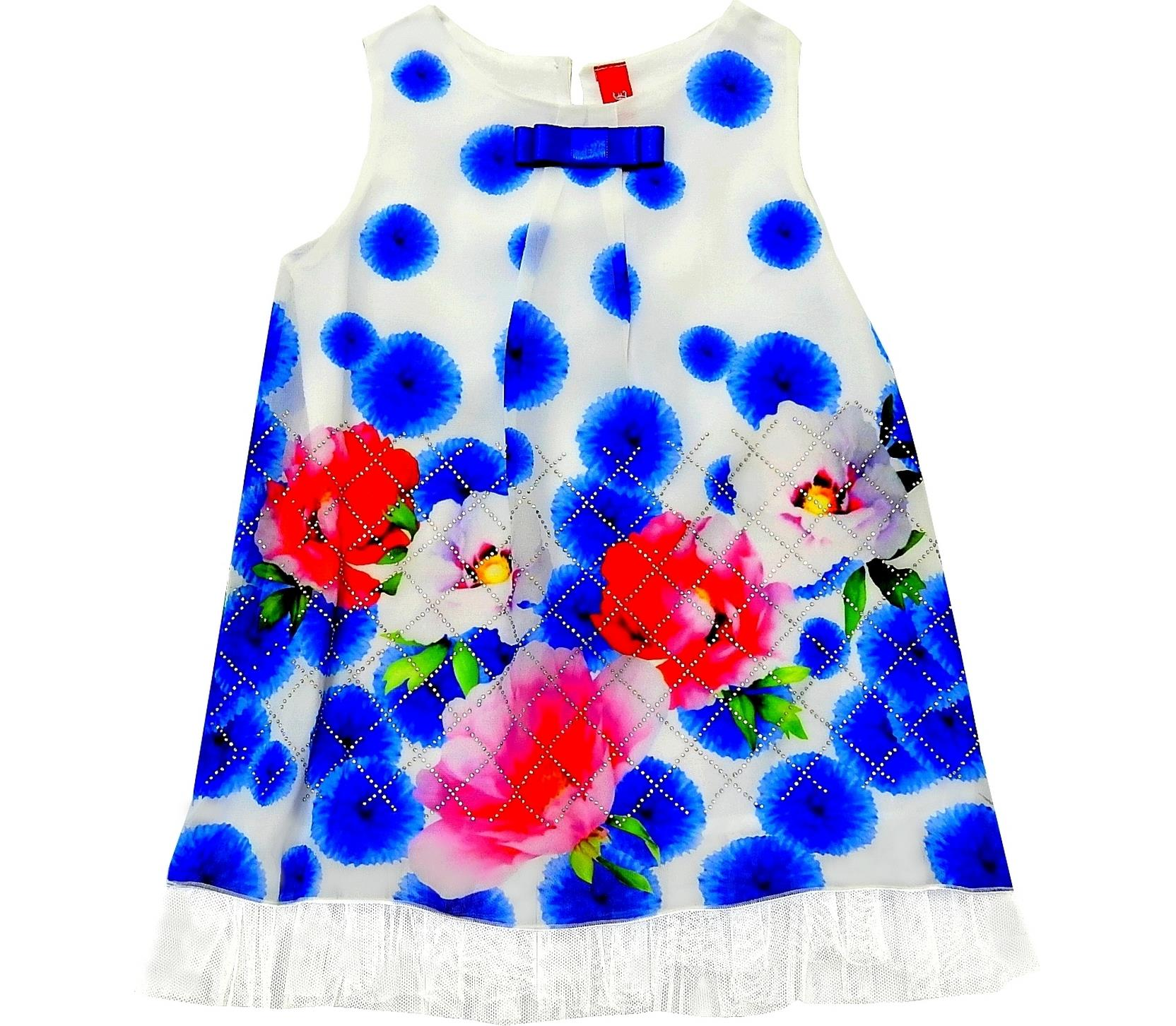 FLOWER PRINTED DESIGN WAISTDRESS FOR GIRL (6-12-18-24 MONTH)