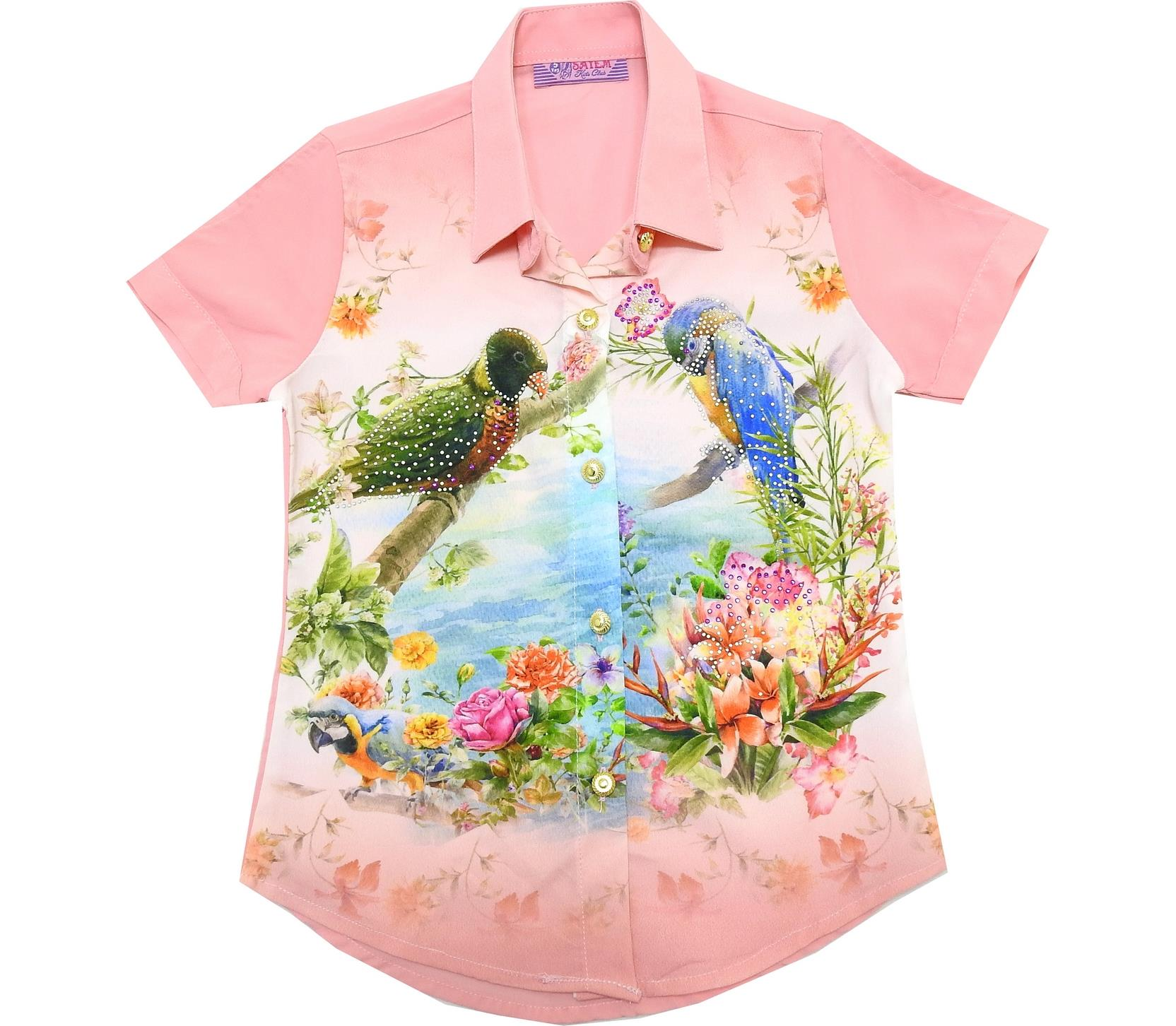 BIRD PRINTED DESIGN SHIRT FOR GIRL (5-6-7-8 AGE)