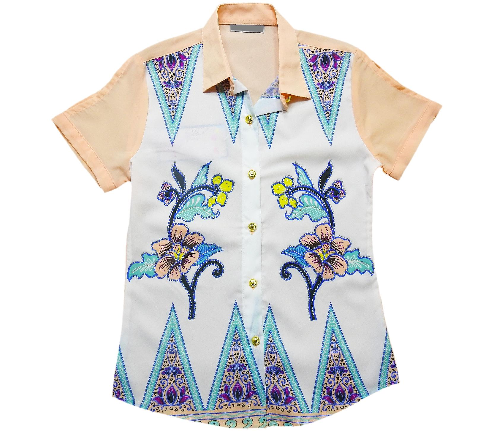 S-2056 Wholesale flower printed shirt for girl children clothes (9-10-11-12 age)
