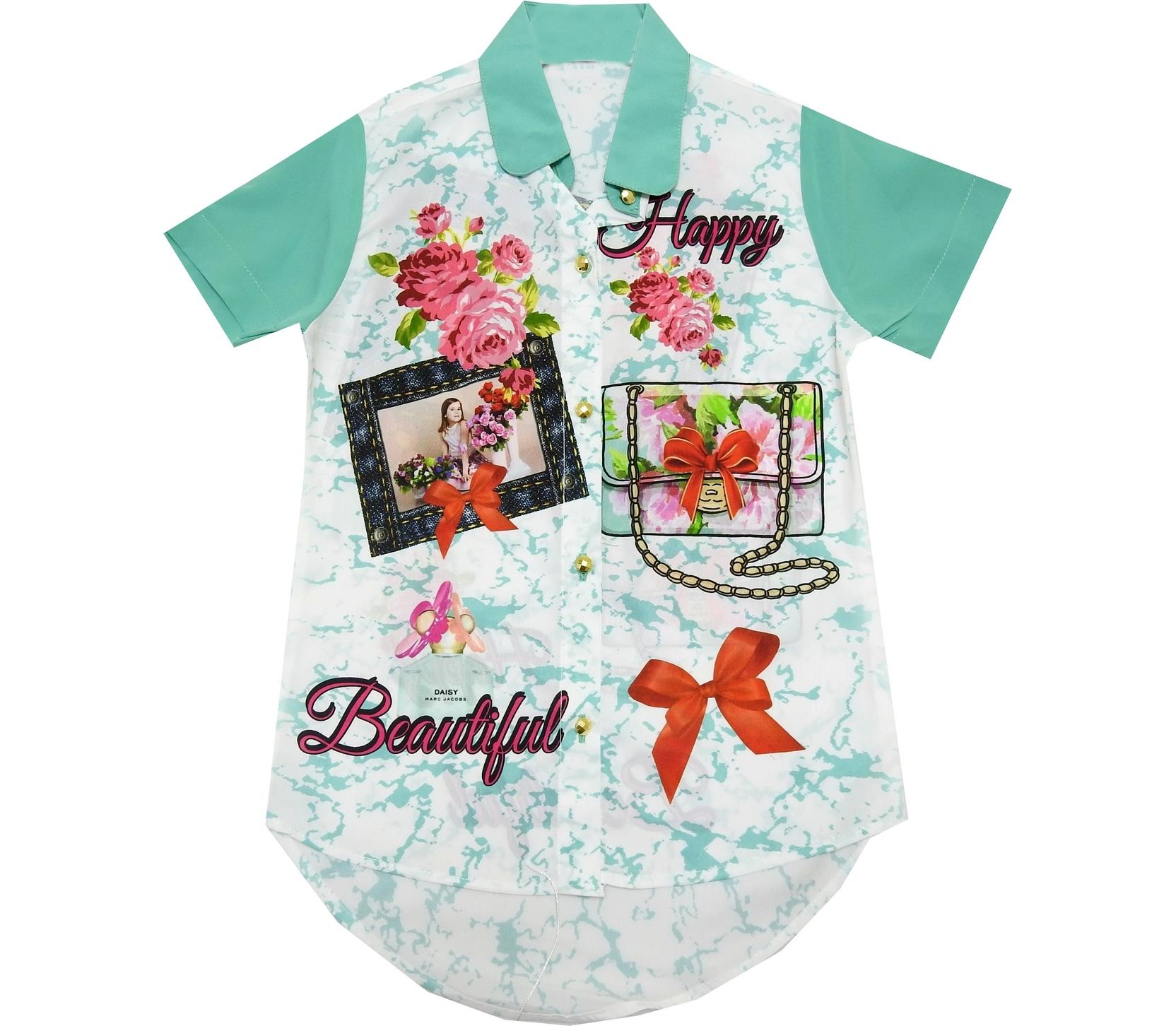 HAPPY BEAUTIFUL PRINTED DESIGN BLOUSE FOR GIRL (5-6-7-8 AGE)