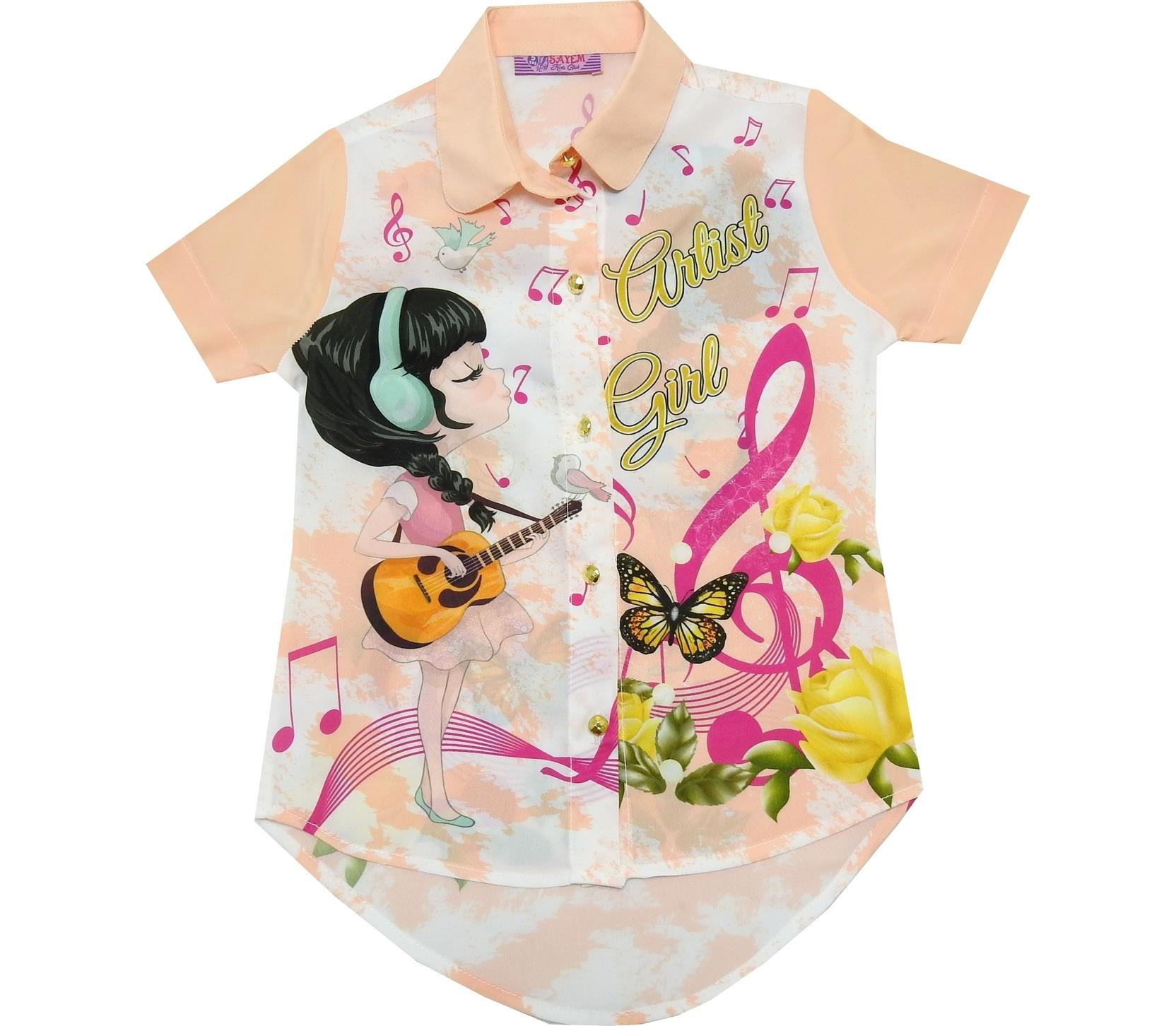 ARTIST GIRL PRINTED DESIGN BLOUSE FOR GIRL (5-6-7-8 AGE)