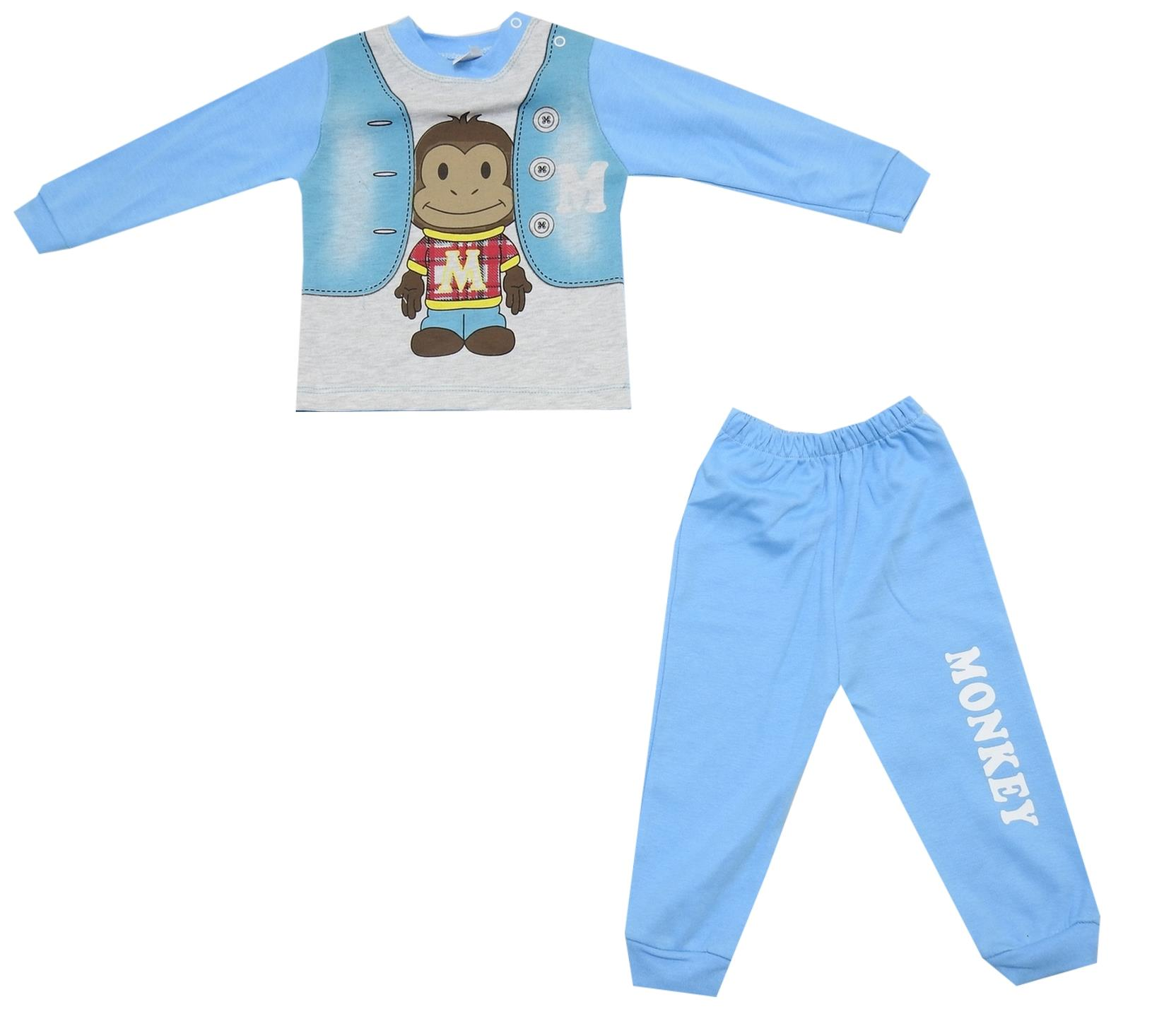 MONKEY PRINTED DESIGN FOR BOY (9-12-18 MONTH)