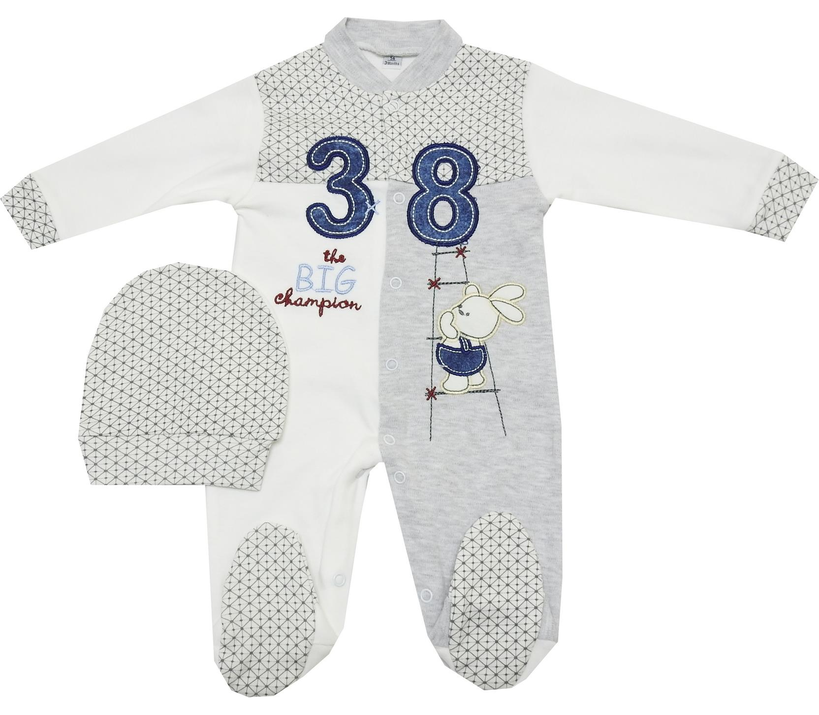 38 PRINTED ROMPER FOR BOY ( 0-3-6 MONTH )