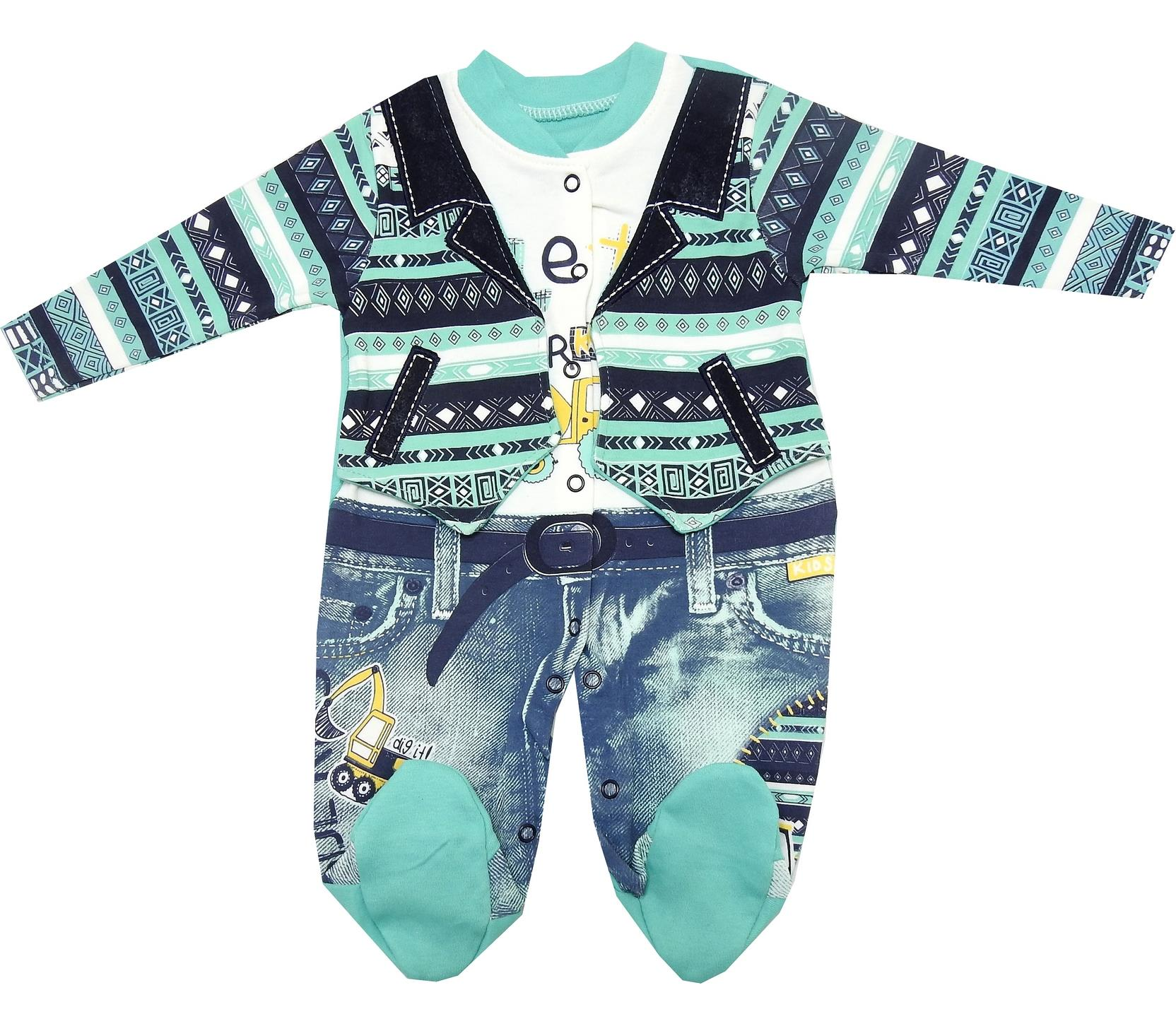 PRINTED DESIGN ROMPER FOR BOY ( 3-6-9 MONTH )