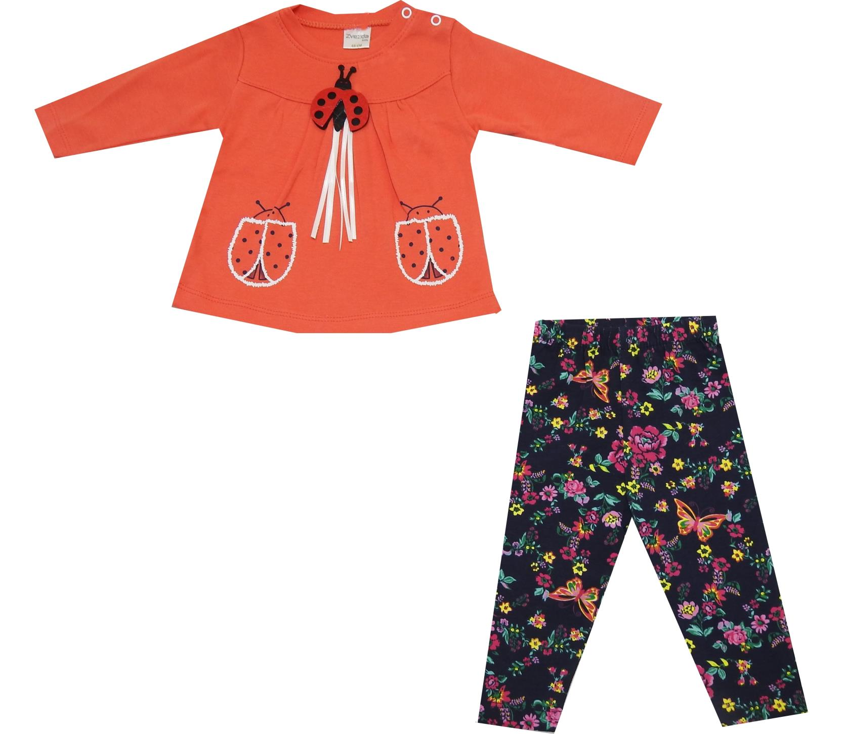 LADYBUG BUCKLE DOUBLE SET FOR GIRL (6-9-12 MONTH)