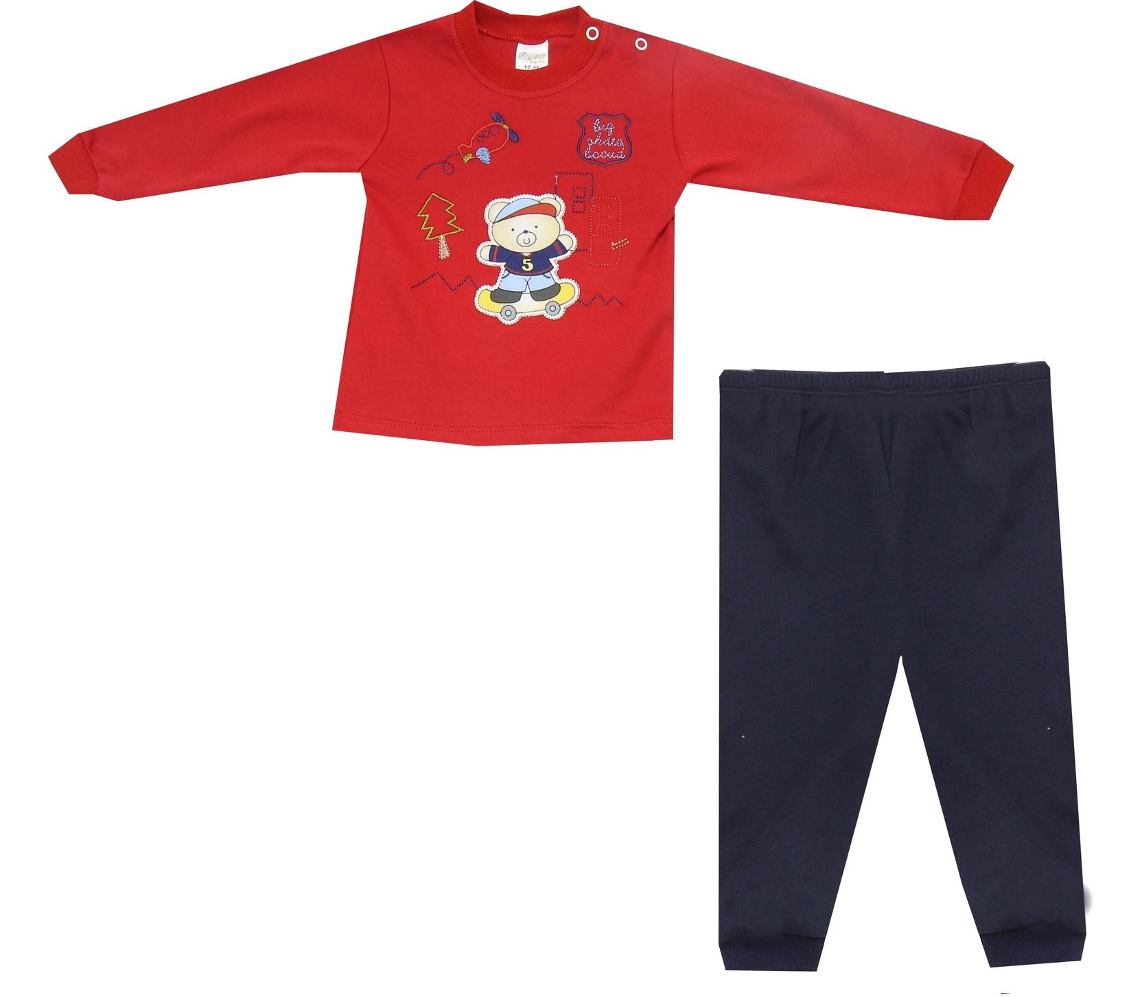 BEAR PRINTED DOUBLE SET FOR BOY (6-9-12)