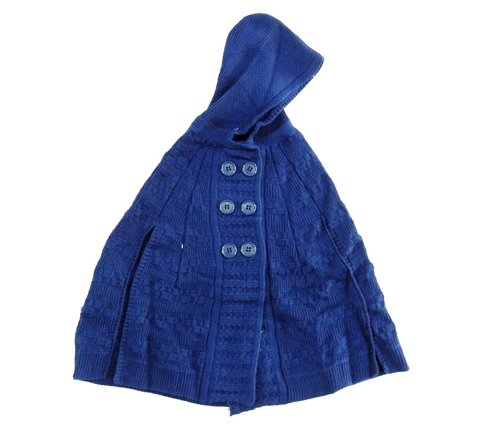WHOLESALE HOODED KNITTED DESIGN CARDIGAN PONCHO FOR GIRL (3-5-8 AGE)