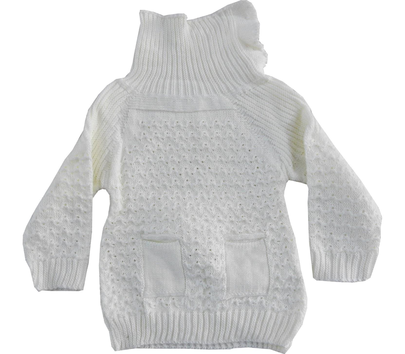 WHOLESALE KNITTED TURTLENECK DESIGN SWEATER PULLOVER FOR GIRL (3-5-7 AGE)
