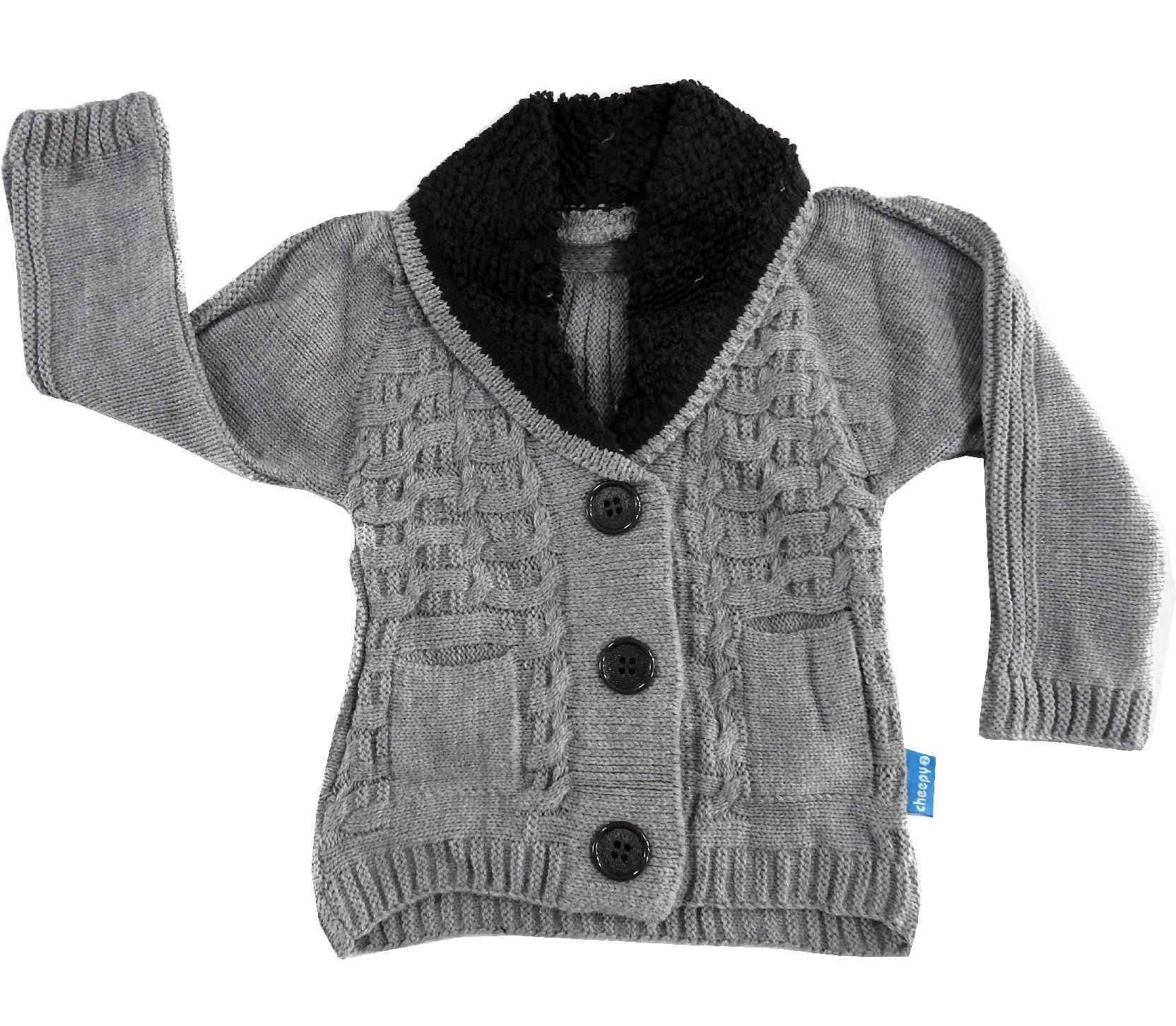 WHOLESALE KNITTED DESIGN CARDIGAN FOR BOY (2-3-4 AGE)