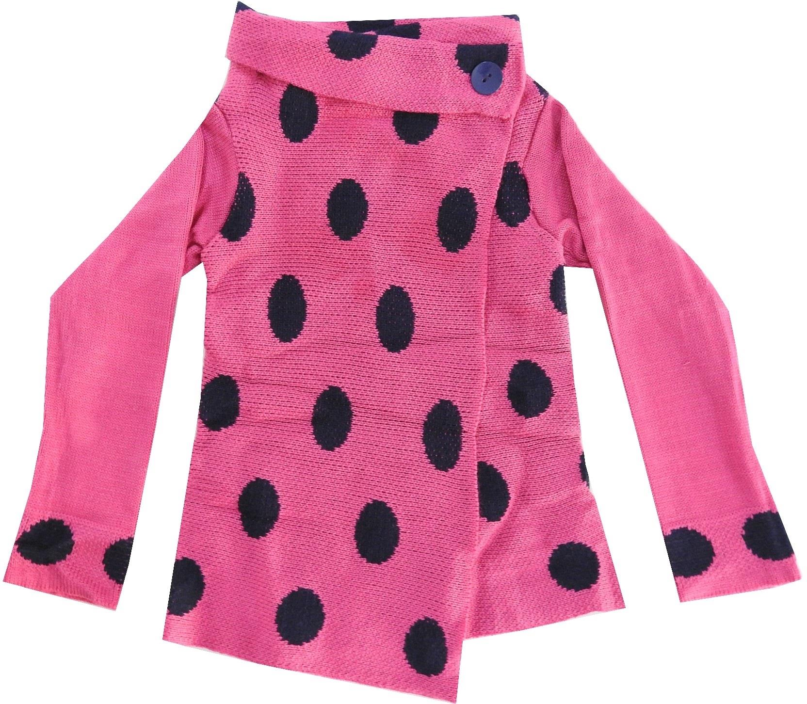 WHOLESALE SPOTTY EMBROIDERY PONCHO FOR GIRL (3-5-7 AGE)