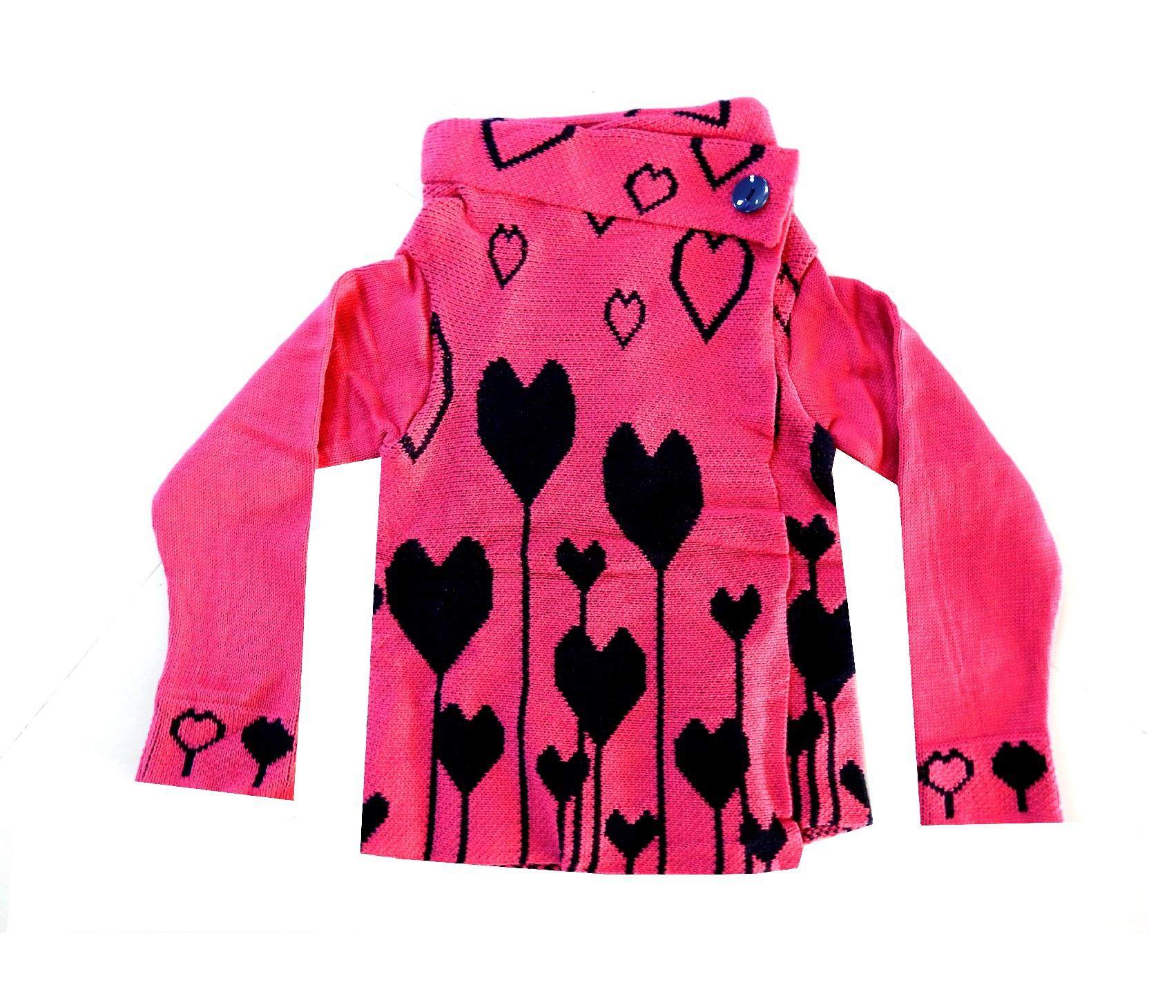 HEART EMBROIDERED CARDIGAN FOR GIRL (3-5-7 AGE)