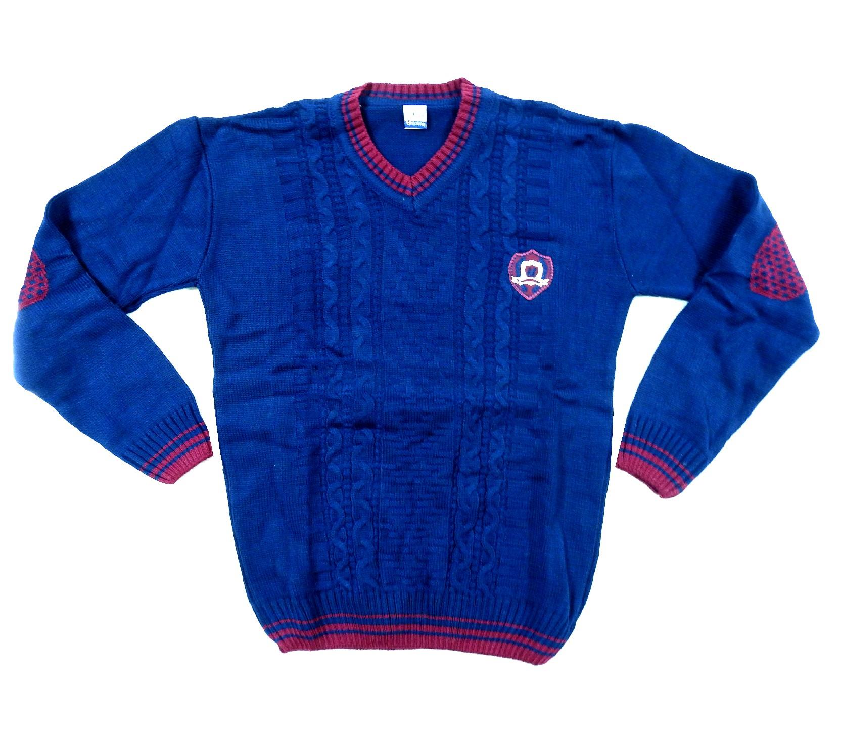 ELBOW PATCHED V COLLAR DESIGN SWEATER FOR BOY (10-12--14 AGE)