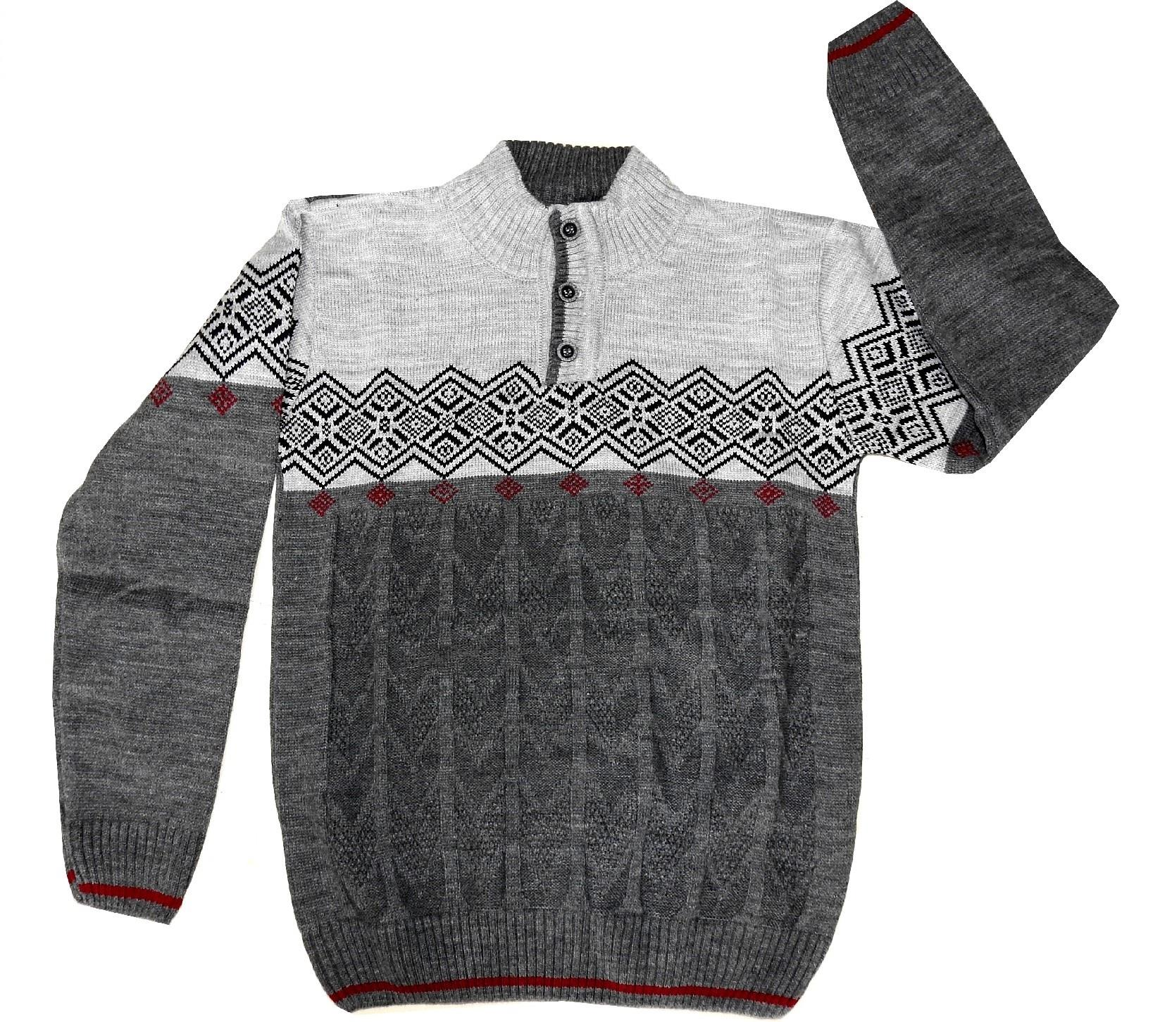TURTLENECK TRIBAL EMBROIDERY SWEATER FOR BOY (5-7-9 AGE)
