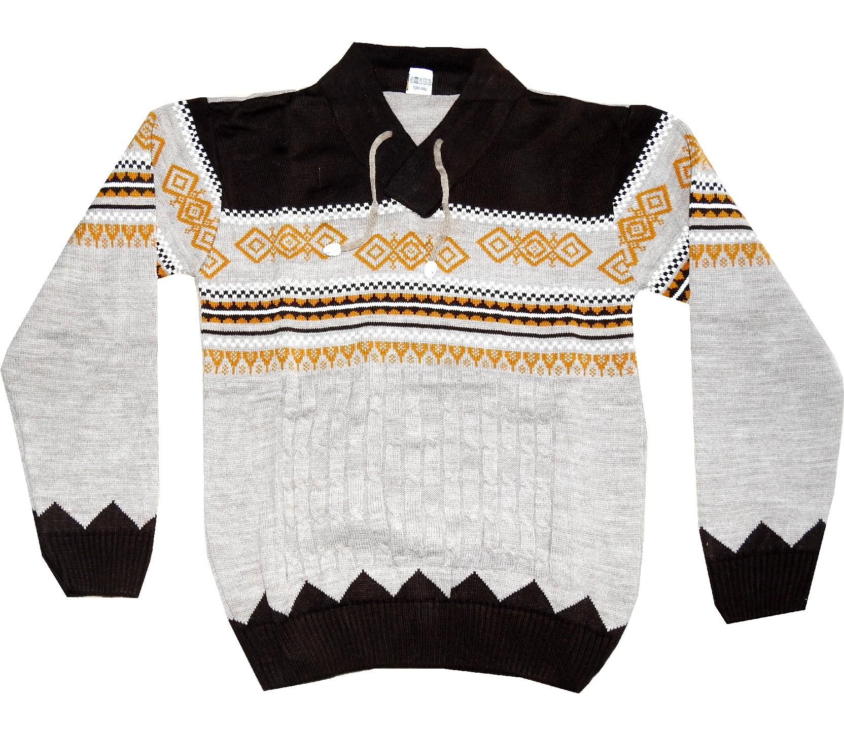 DIAMOND KNITTED DESIGNED SWEATER FOR BOY (10-12-14 AGE)