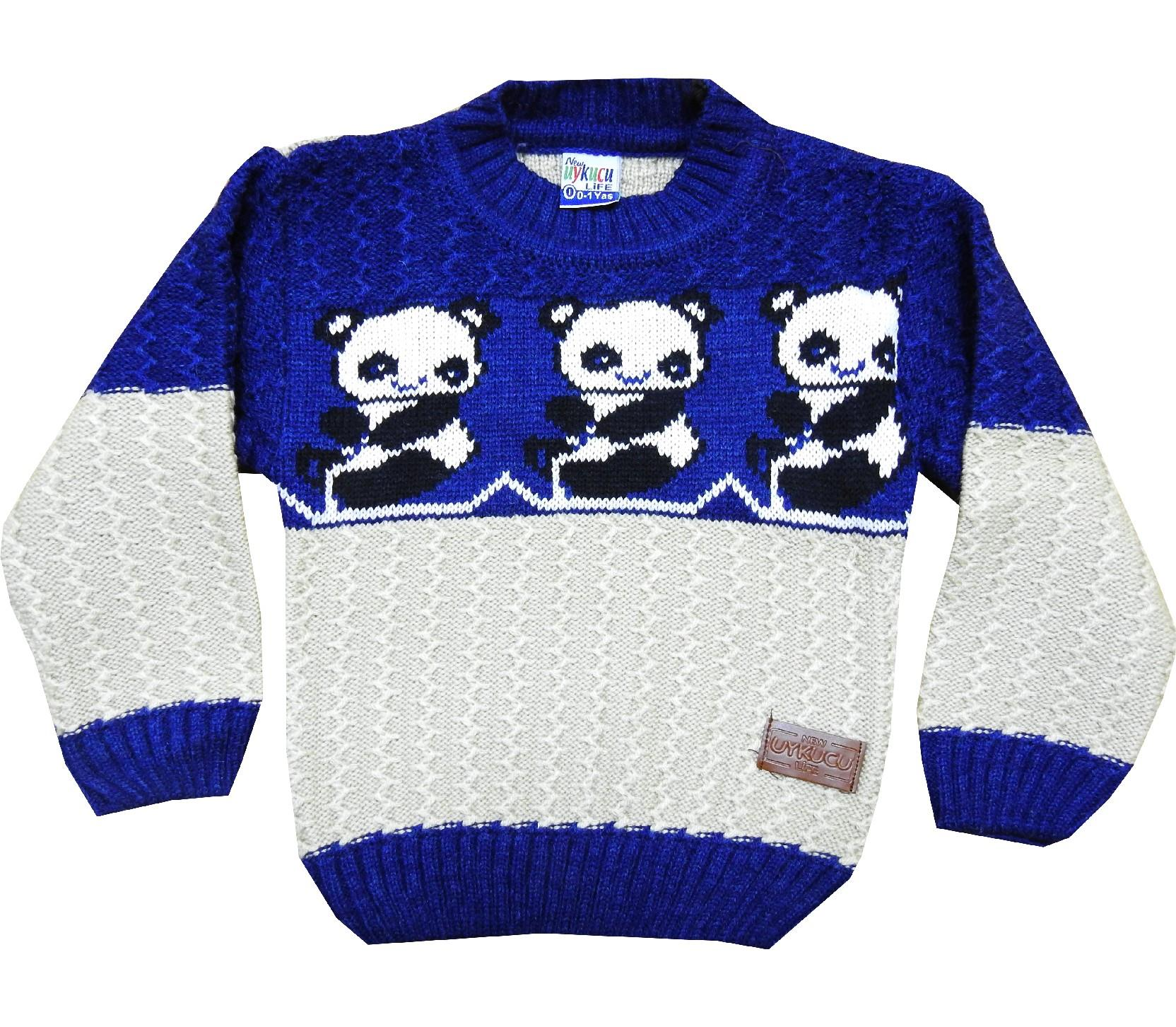 Wholesale panda print sweater for kids (1-2-3 age)